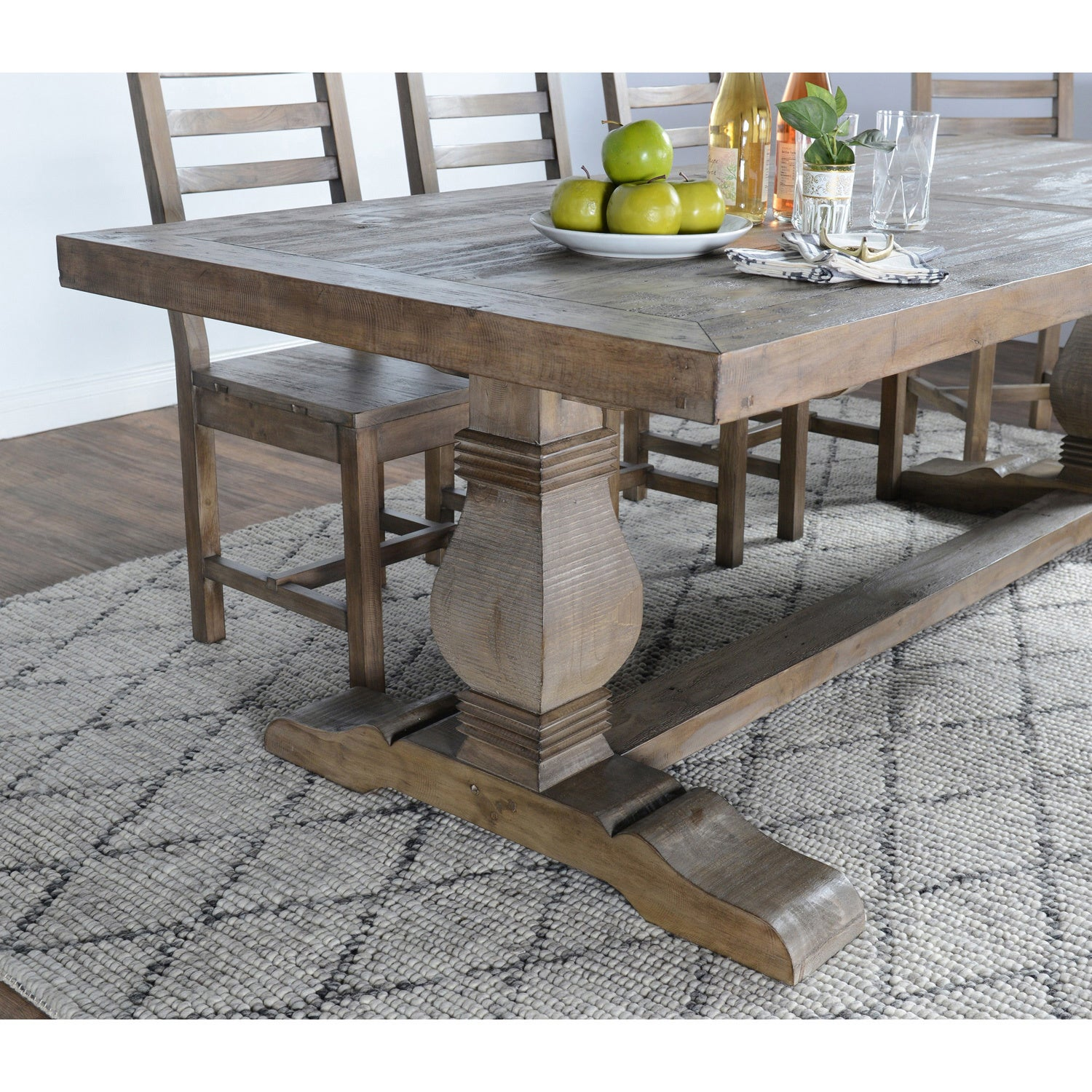 Shop Kasey Reclaimed Wood 94 Inch Dining Table By Kosas Home   Desert Grey    30.7hx94.5wx39.4d   Free Shipping Today   Overstock.com   11342892