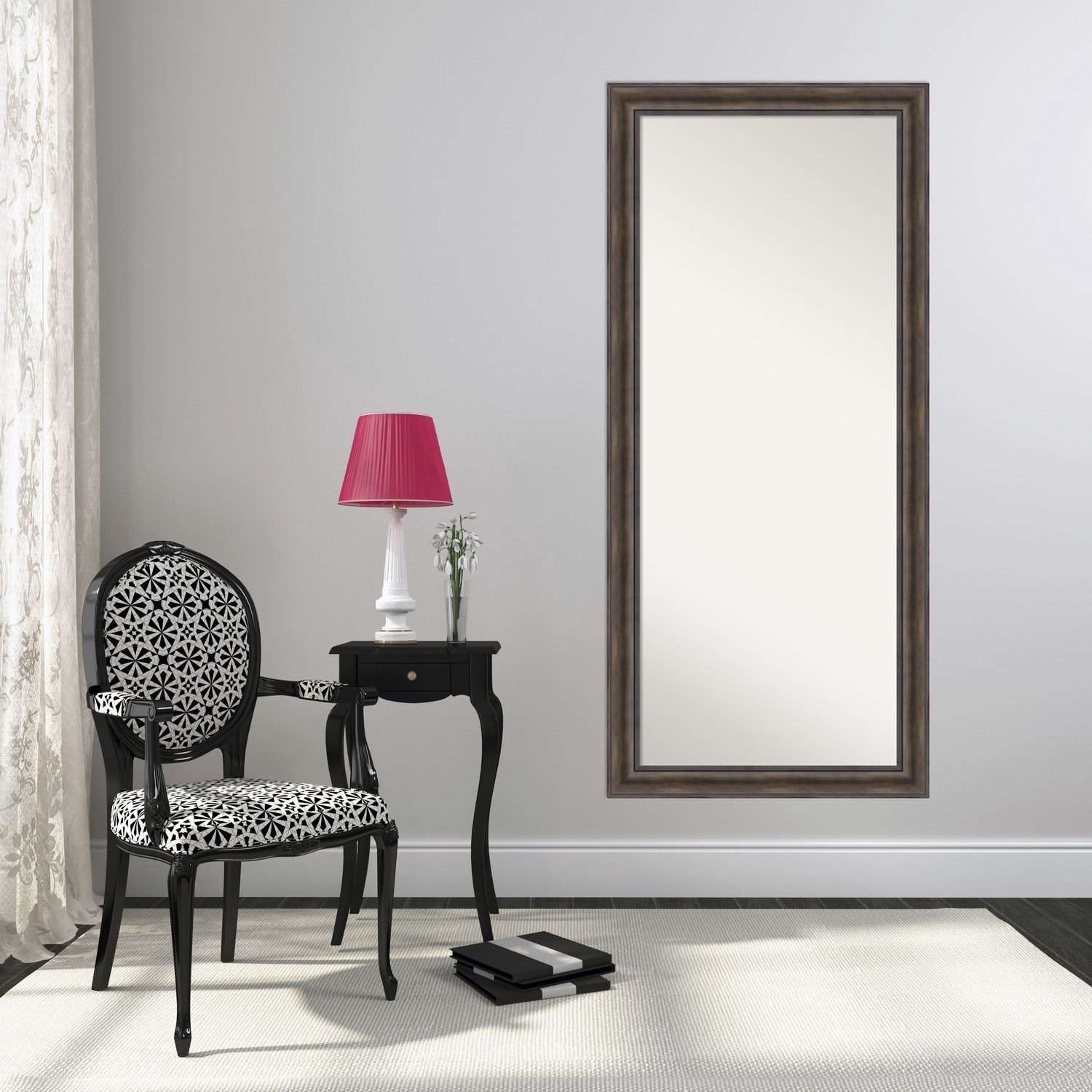 Floor / Leaner Mirror, Rustic Pine Wood 30 x 66-inch - Free Shipping ...