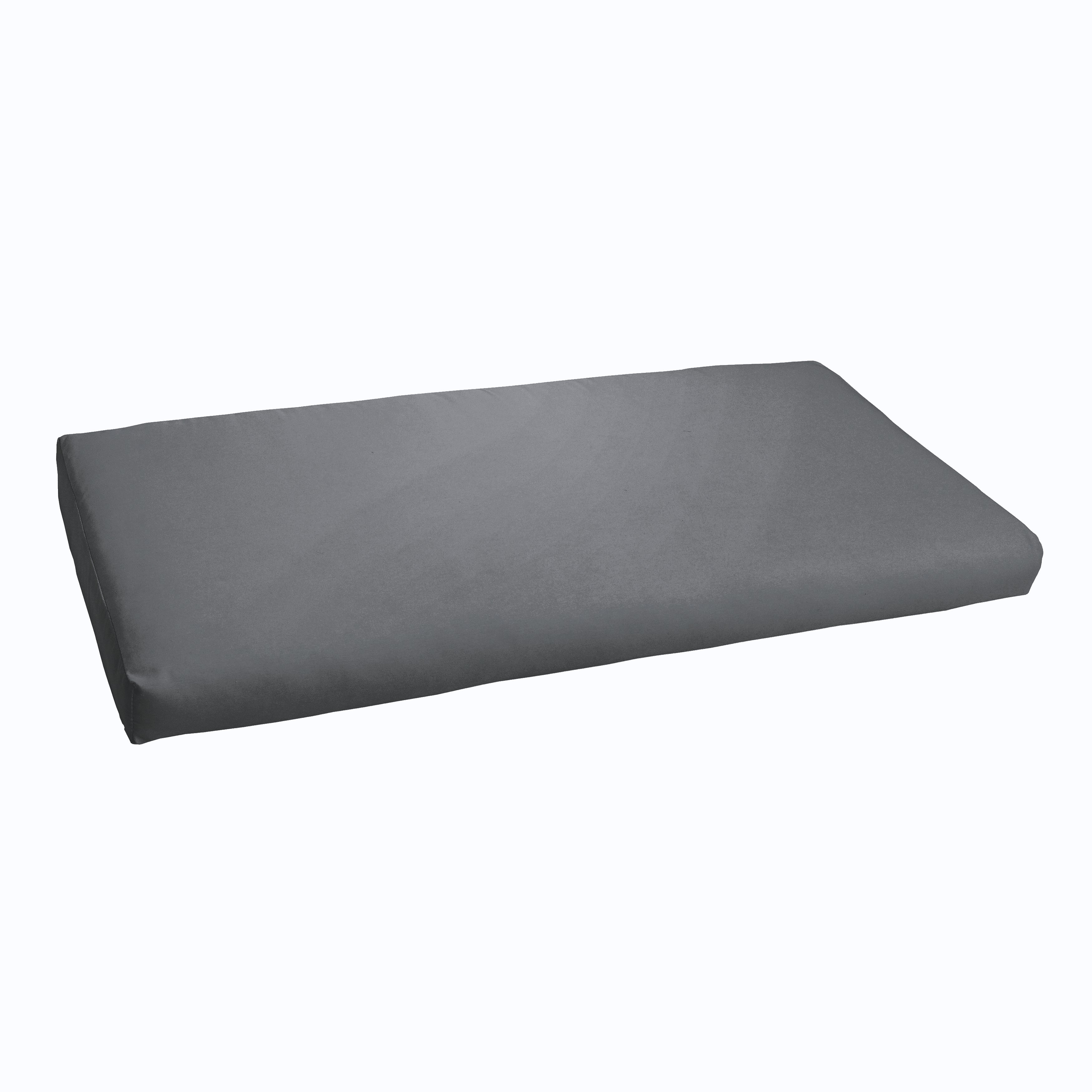 Sloane Charcoal Grey 48 Inch Indoor Outdoor Bristol Bench Cushion Free Shipping Today 11351501