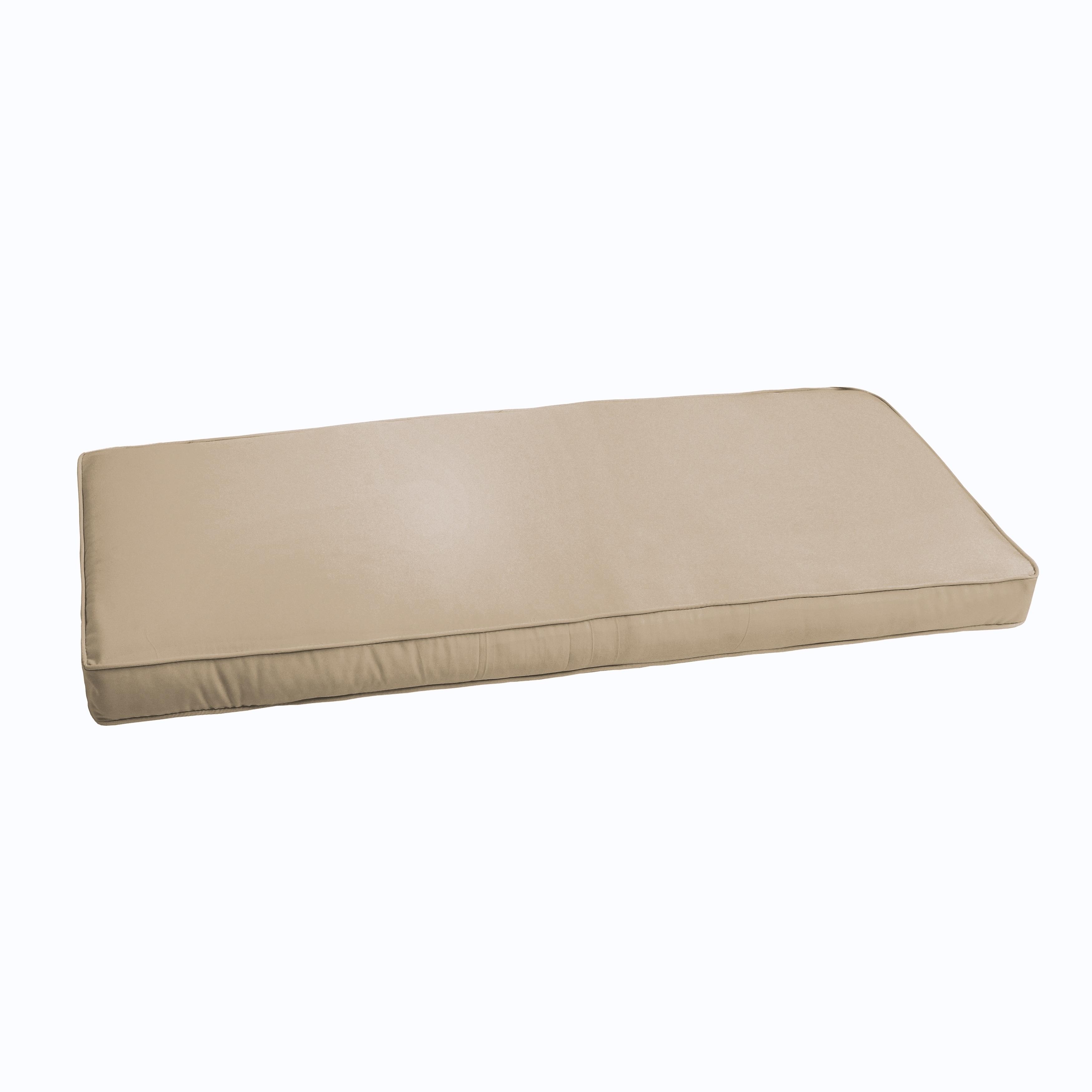 Shop Sloane Beige 48 Inch Indoor Outdoor Corded Bench Cushion On