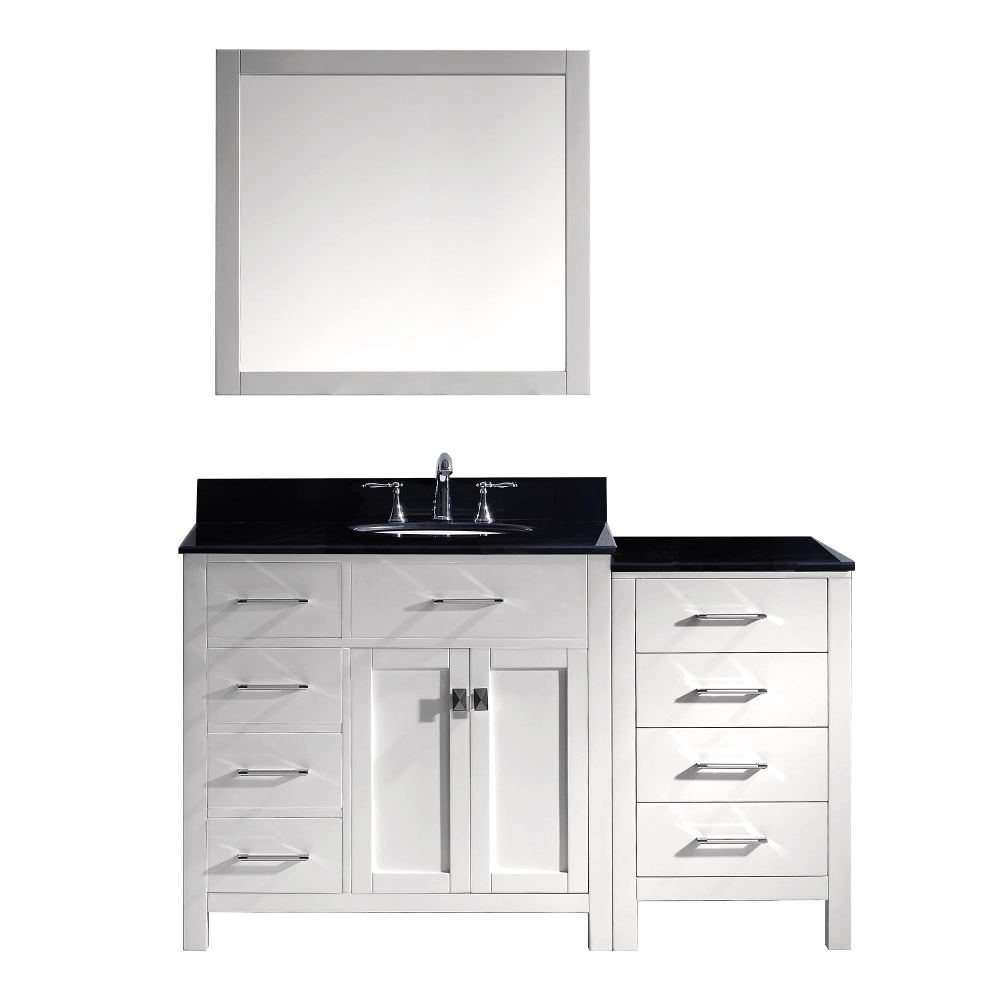 Caroline Parkway 57 Inch Single Left Cabinet Set Bathroom Vanity Free Shipping Today 11352089