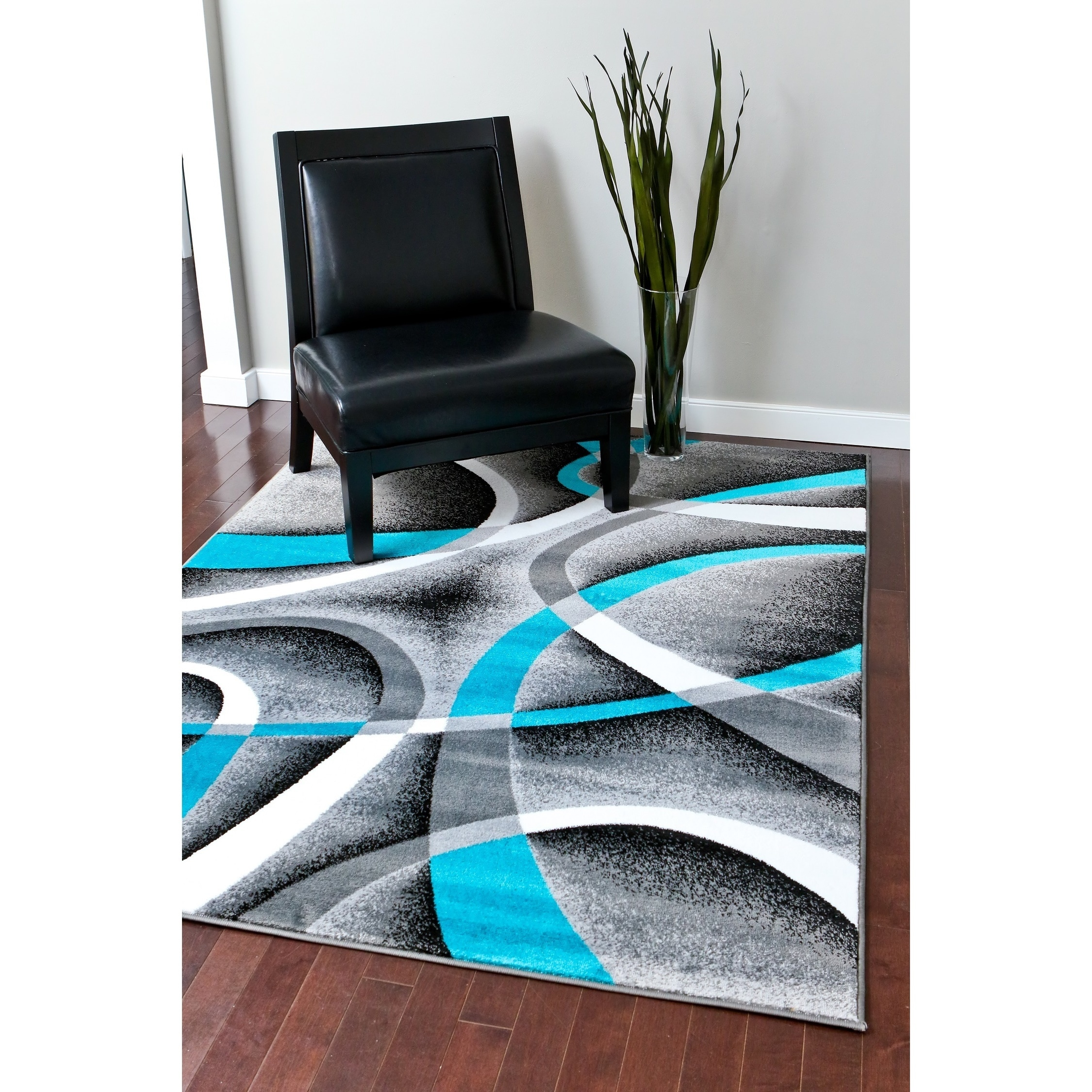 persian rugs modern trendz collection turquoise grey rug (' x ') free shipping today  overstockcom  . persian rugs modern trendz collection turquoise grey rug (' x