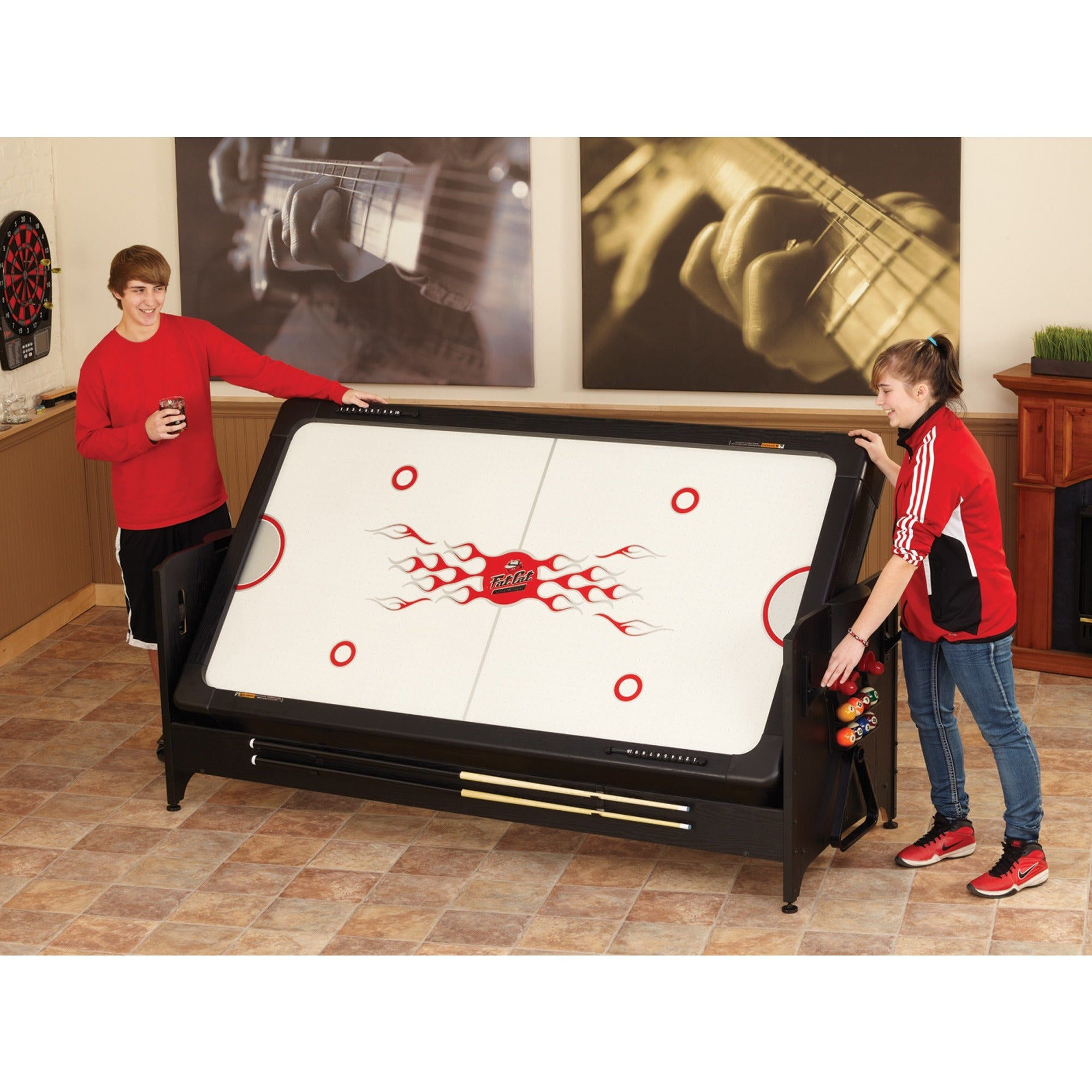 Charming Fat Cat Air Hockey Table #17 - Fat Cat 64-1046 Original 3-in-1 7-foot Pockey Game Table Billiards/ Air  Hockey/ Table Tennis - Black - Free Shipping Today - Overstock - 18326520