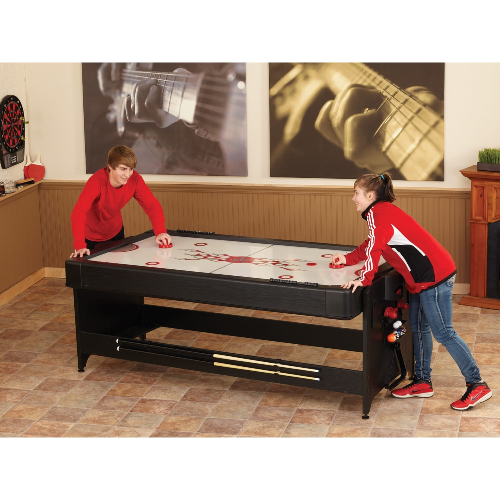 Beau Shop Fat Cat 64 1046 Original 3 In 1 7 Foot Pockey Game Table Billiards/ Air  Hockey/ Table Tennis   Black   Free Shipping Today   Overstock.com    11353994