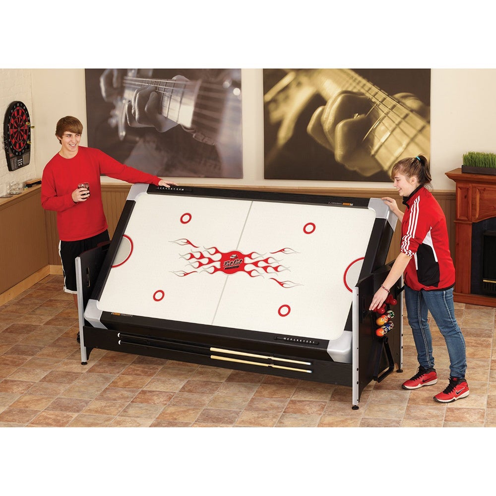 Fat Cat 64 1010 Original 2 In 1 7 Foot Pockey Game Table (Billiards And Air  Hockey)   Black   Free Shipping Today   Overstock.com   18326519