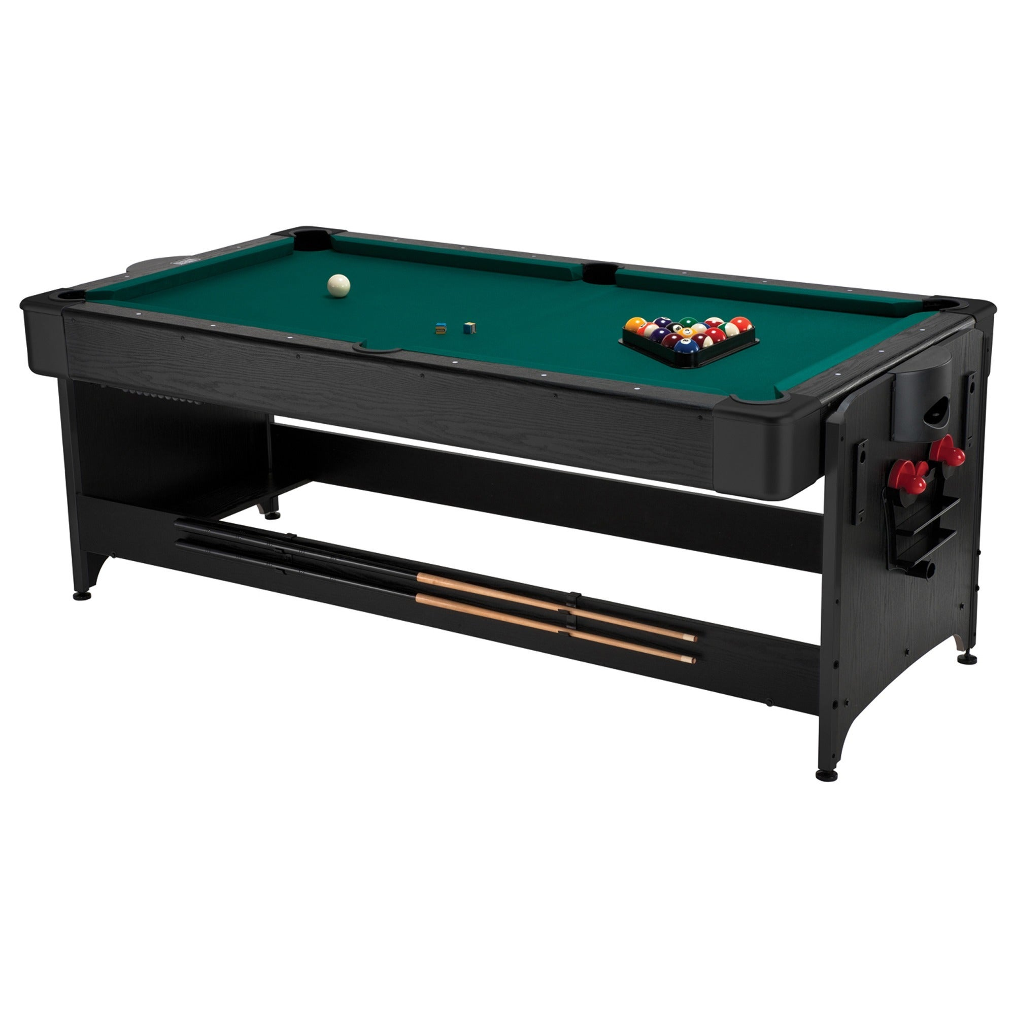 Shop Fat Cat 64 1010 Original 2 In 1 7 Foot Pockey Game Table (Billiards  And Air Hockey)   Black   Free Shipping Today   Overstock.com   11354004