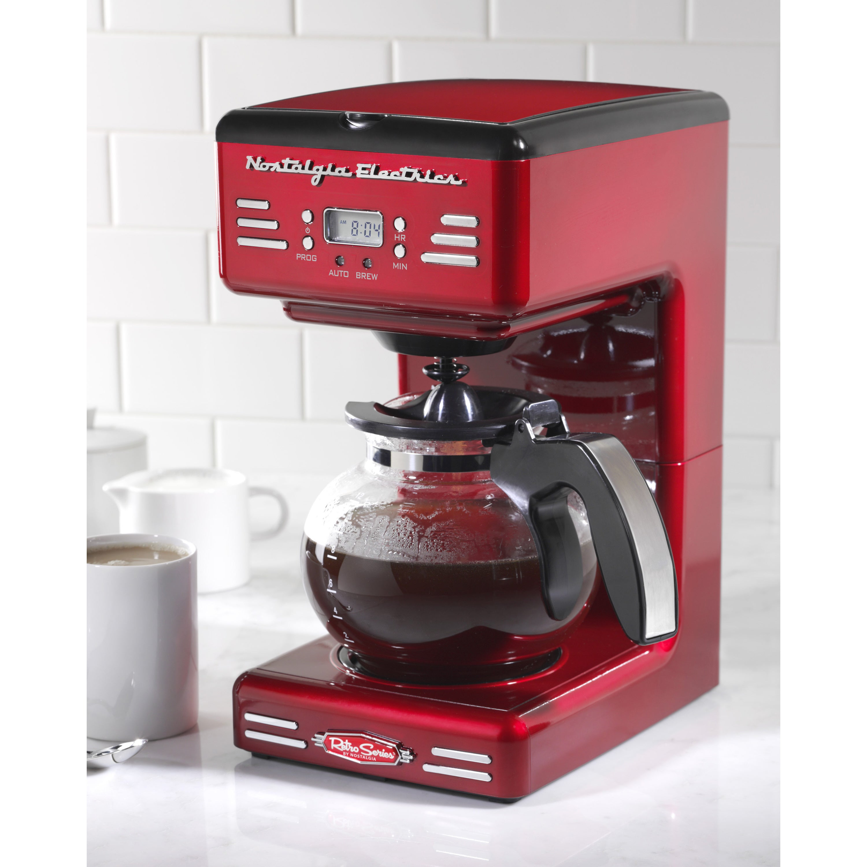 Nostalgia RCOF120 Retro Series '50's Style 12-Cup Programmable Coffee Maker  - Free Shipping Today - Overstock.com - 18327114