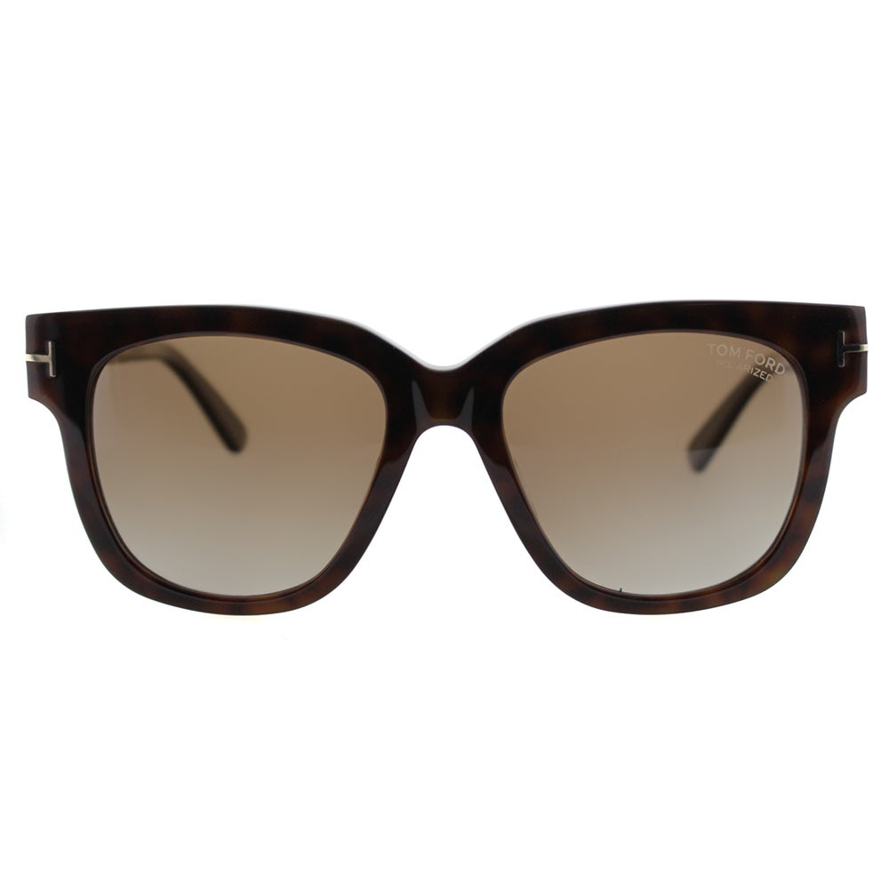 49bb5a32b154 Shop Tom Ford TF 436 Tracy 56H Brown Gradient Polarized Dark Havana Square  Sunglasses - Free Shipping Today - Overstock - 11365256