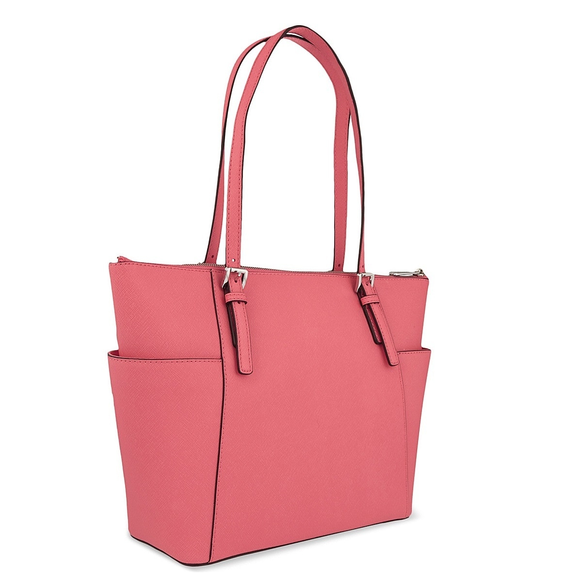 1fdd6c0d293c Shop Michael Kors Jet Set Medium Coral Pocketed Top Zip Tote Bag - Free  Shipping Today - Overstock - 11365274