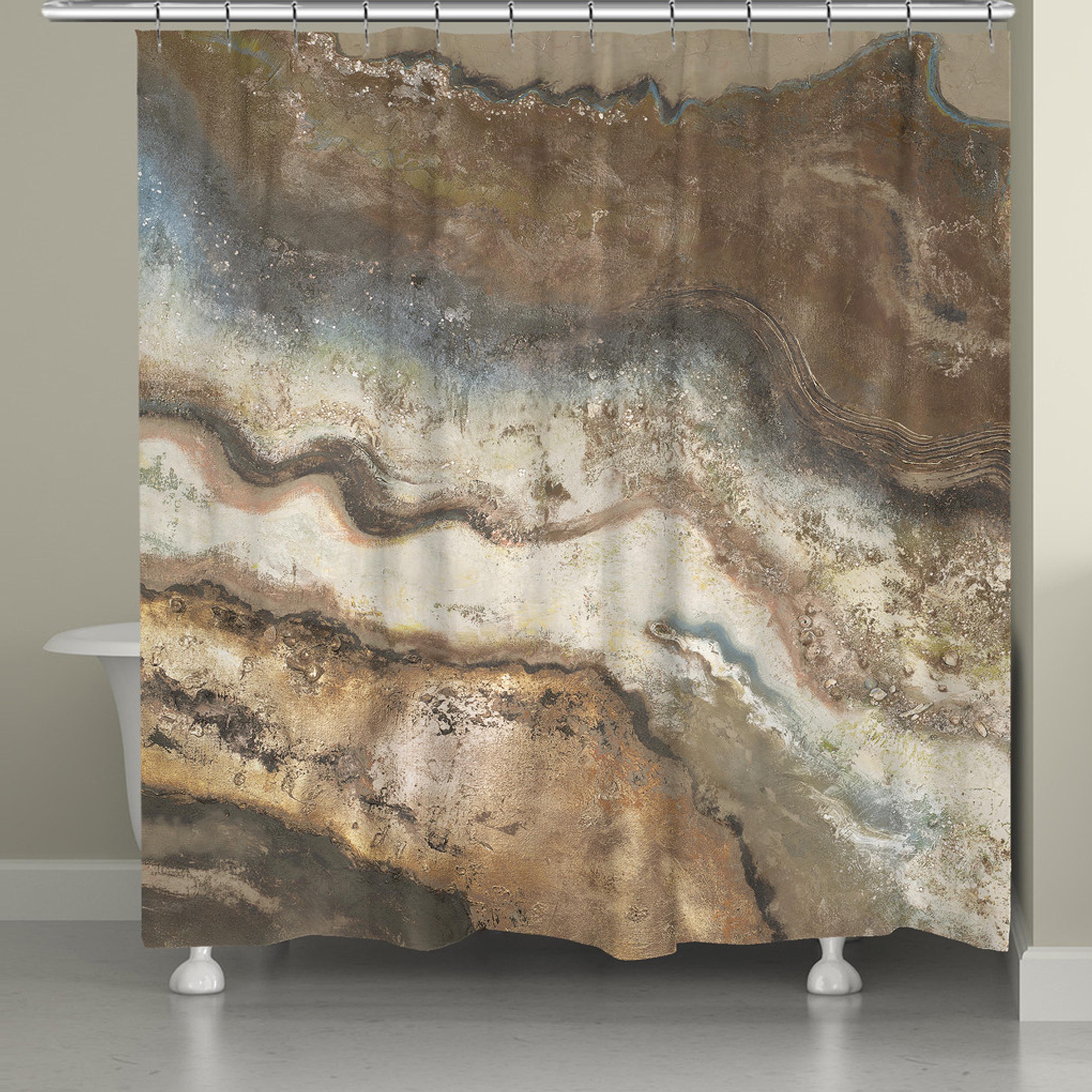 Shop Laural Home Rock Flow Shower Curtain