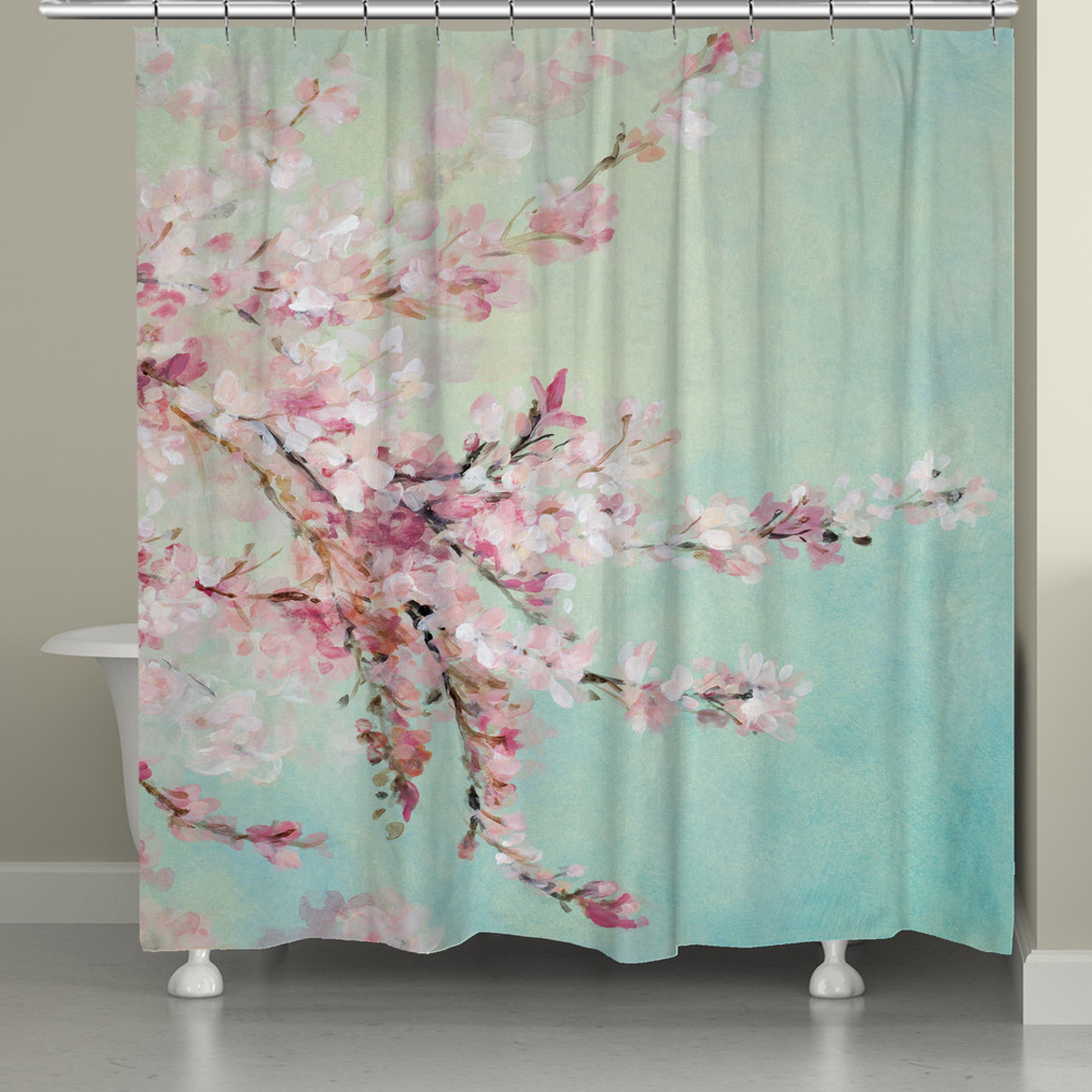 Laural Home Cherry Blossom Blooms Shower Curtain - Free Shipping Today -  Overstock.com - 18337220