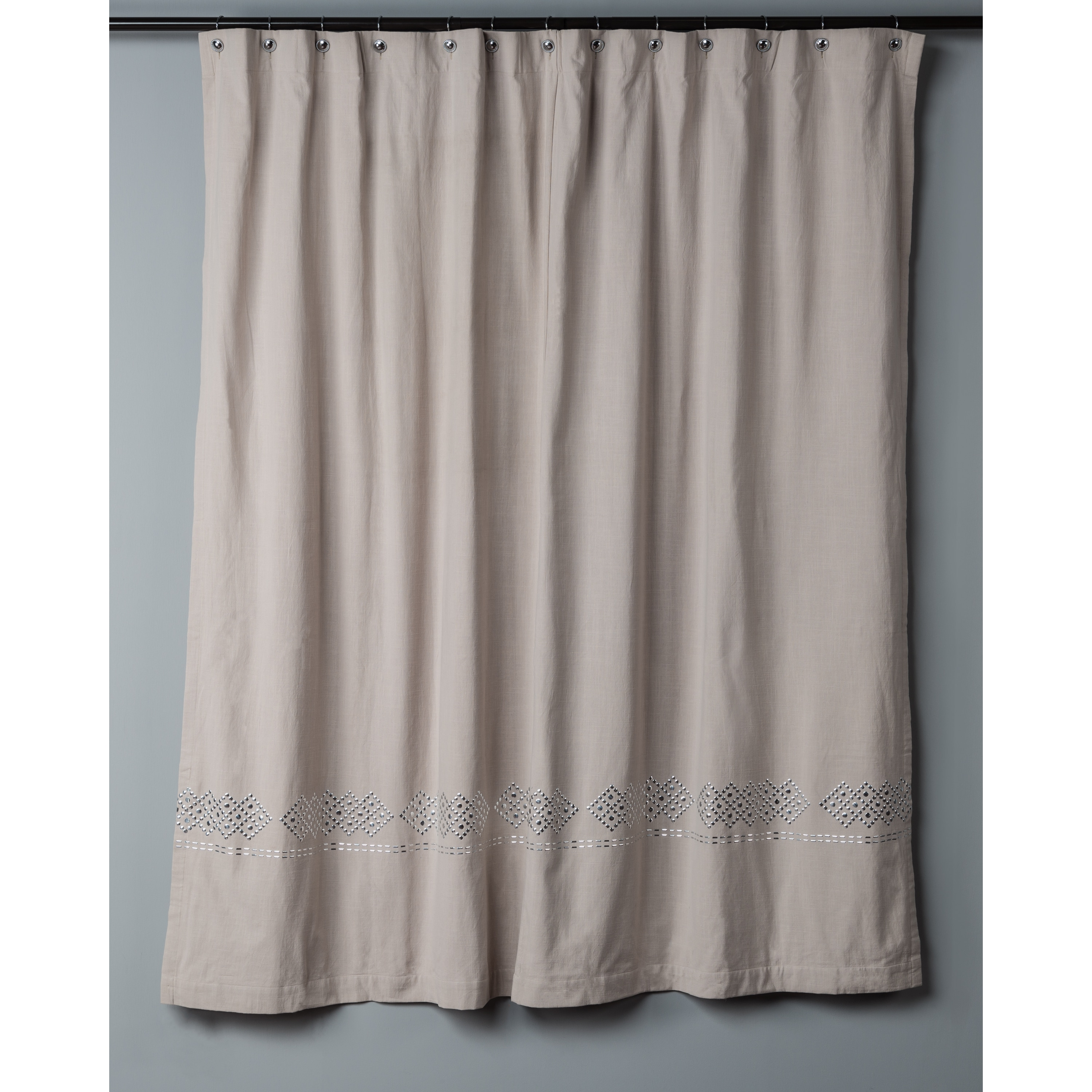 Shop Diamond Studs Collection Shower Curtain by Rizzy Home - On Sale ...