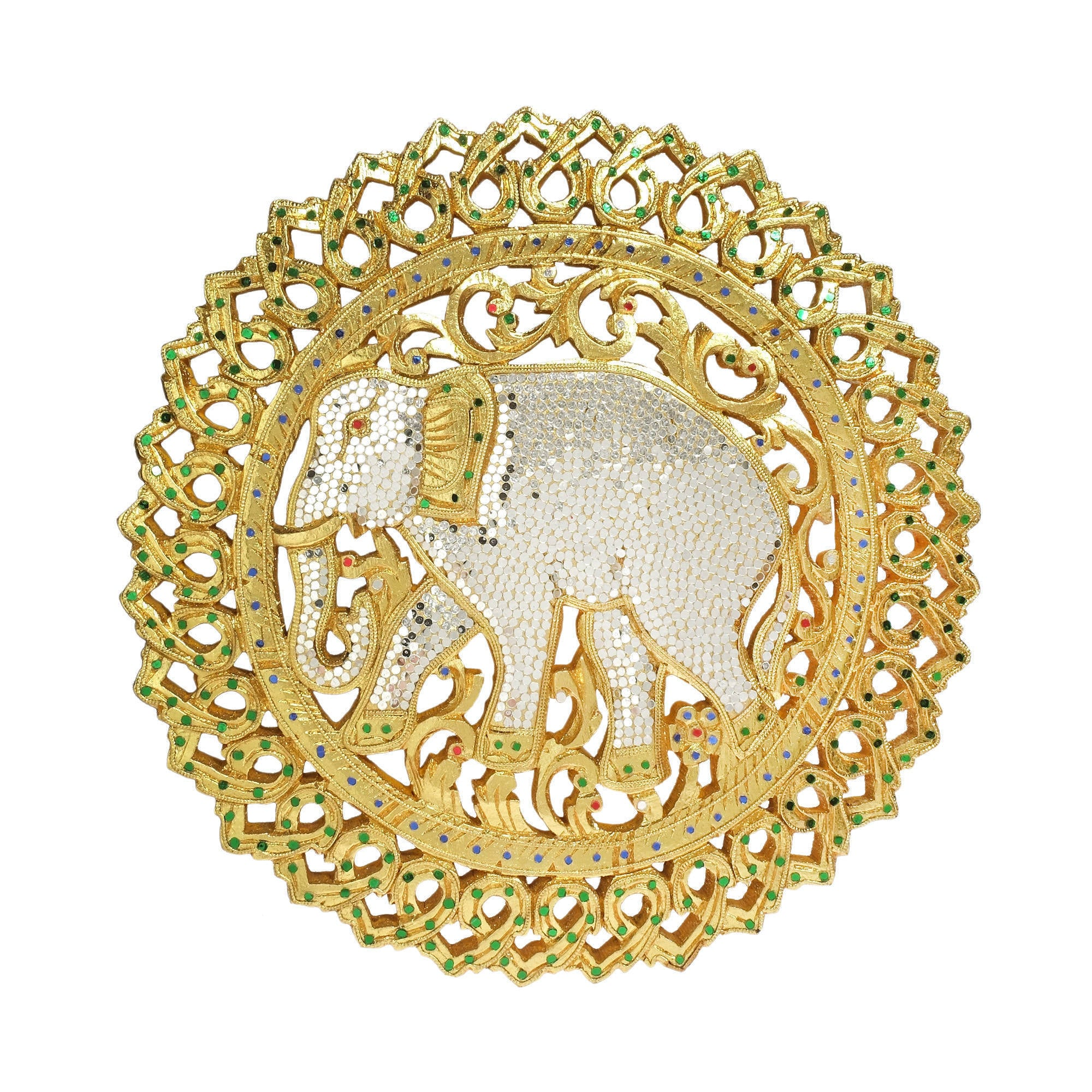 Shop Handmade The Grand Elephant Gilded 24k Gold Carved Wood Wall ...