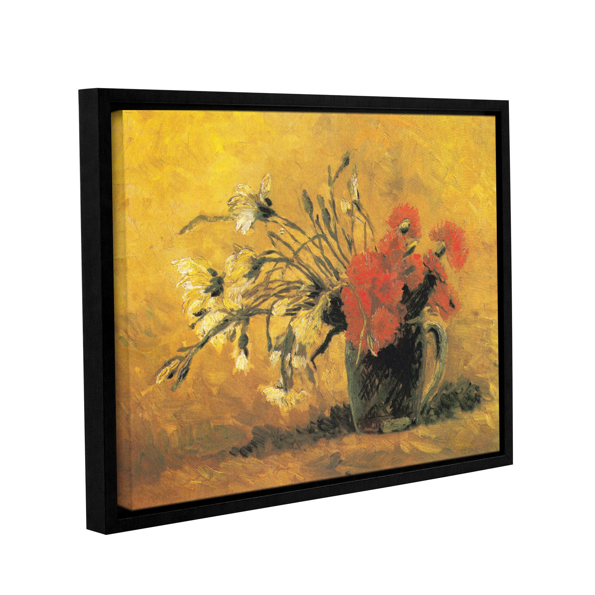 ArtWall \'Vincent VanGogh\'s Vase with Red and White Carnation on a ...