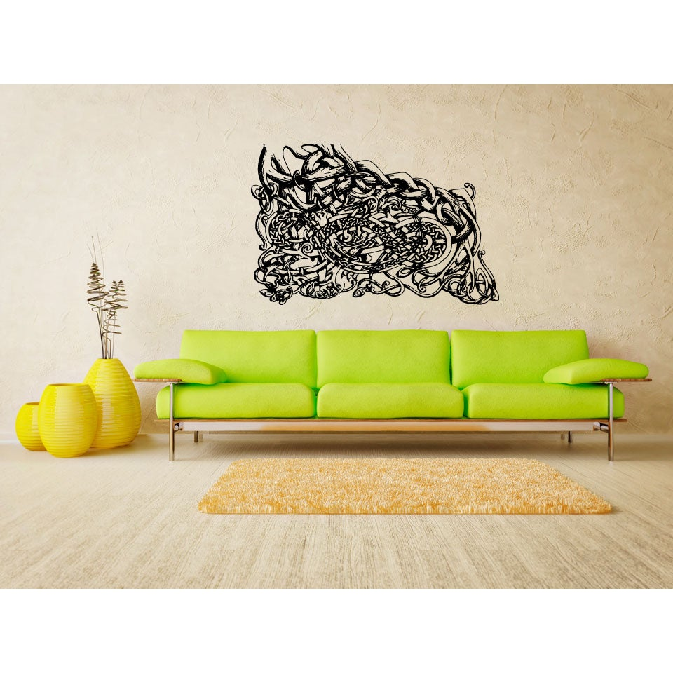 Shop Celtic knot graphical Abstraction Wall Art Sticker Decal - Free ...