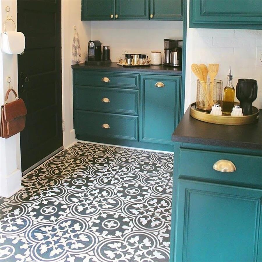 Shop SomerTile 9.75x9.75-inch Art Black Porcelain Floor and Wall ...