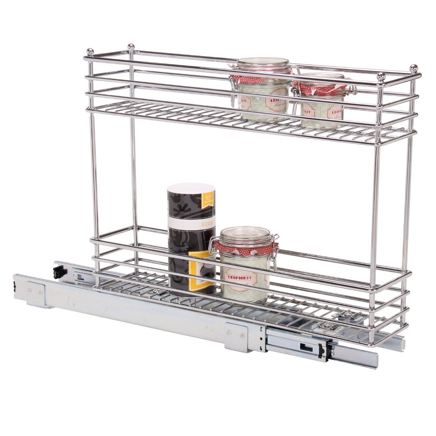 Household Essentials Glidez Narrow 5 Inch Sliding Organizer, Chrome   Free  Shipping Today   Overstock   18342661