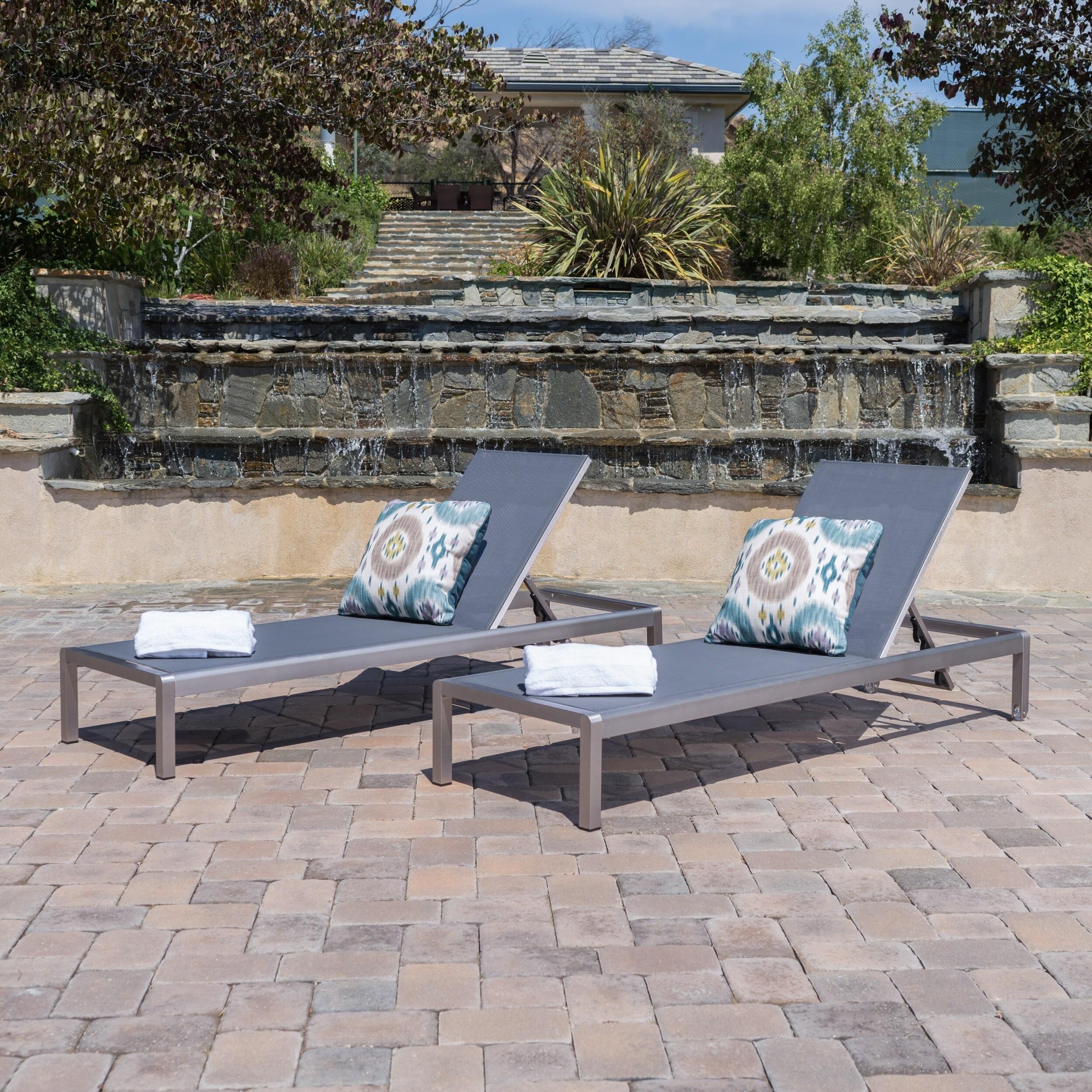 Wunderschön Lounge Outdoor Beste Wahl Shop Cape Coral Aluminum Table Chaise (set