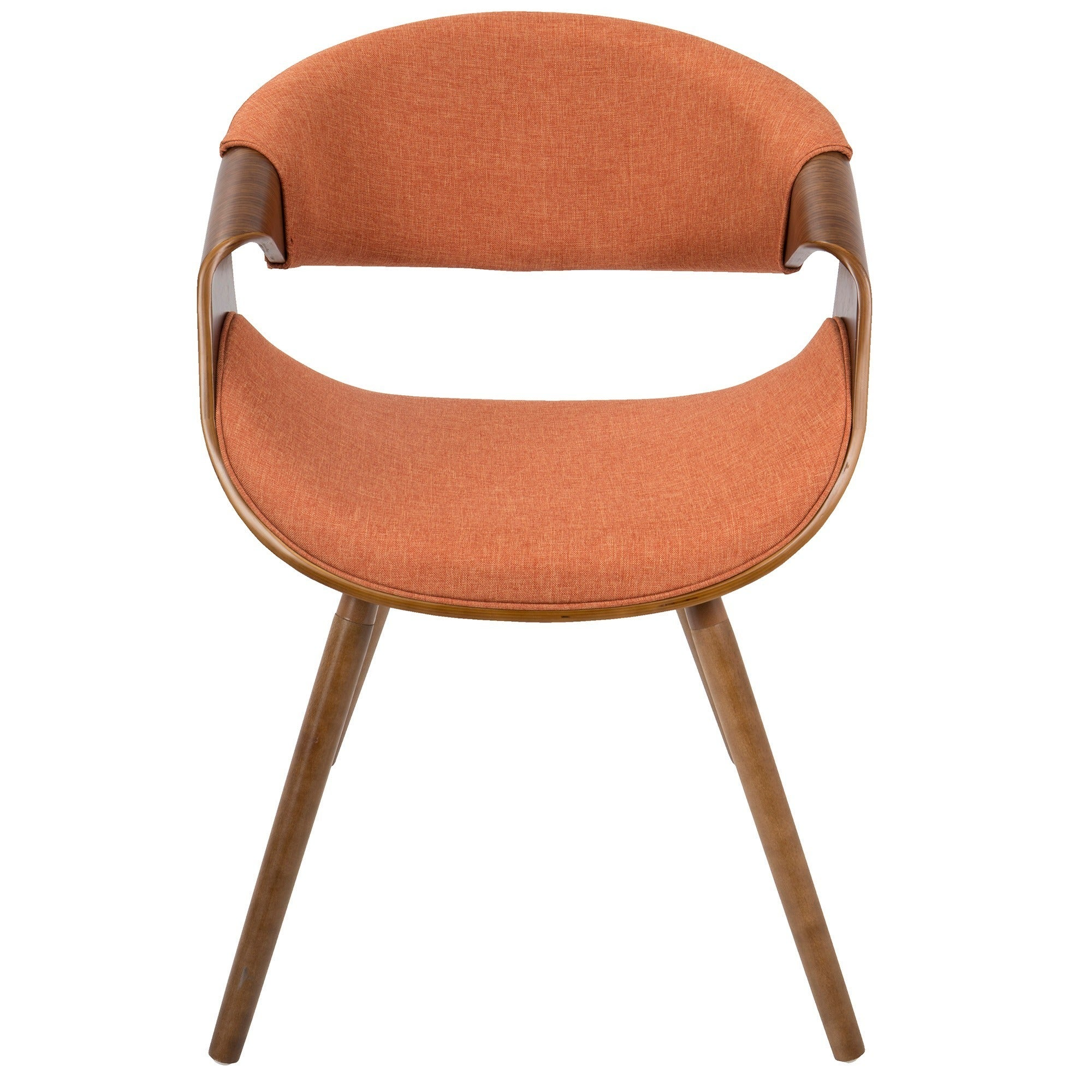 Shop Curvo Mid Century Modern Chair In Walnut Wood   On Sale   Free  Shipping Today   Overstock.com   20370419