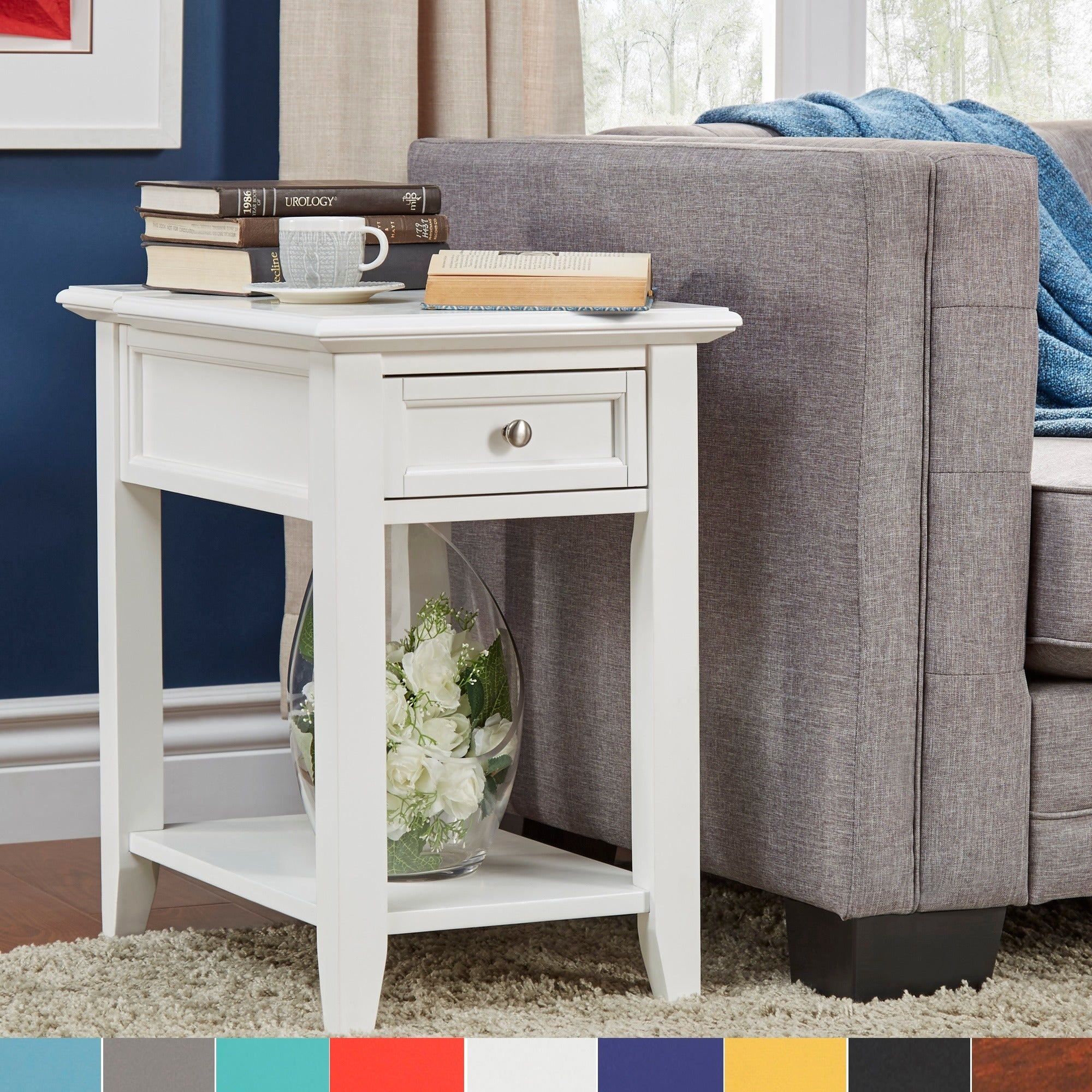 Zayden 1 Drawer Side Table With Charging Station By Inspire Q Bold Free Shipping Today 18343269
