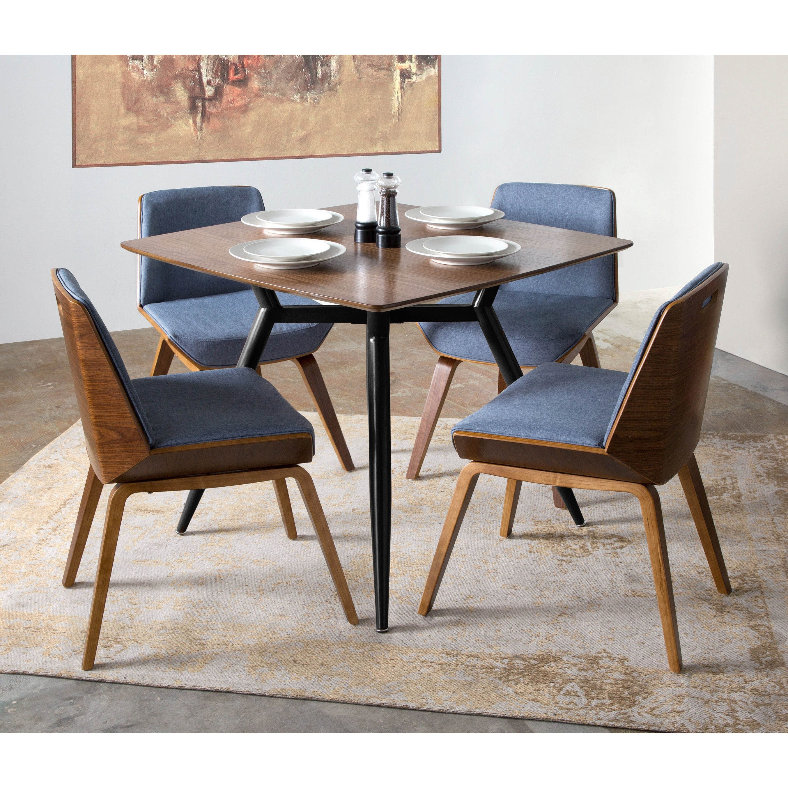Shop Corazza Mid-Century Modern Dining/Accent Chair - Free Shipping ...