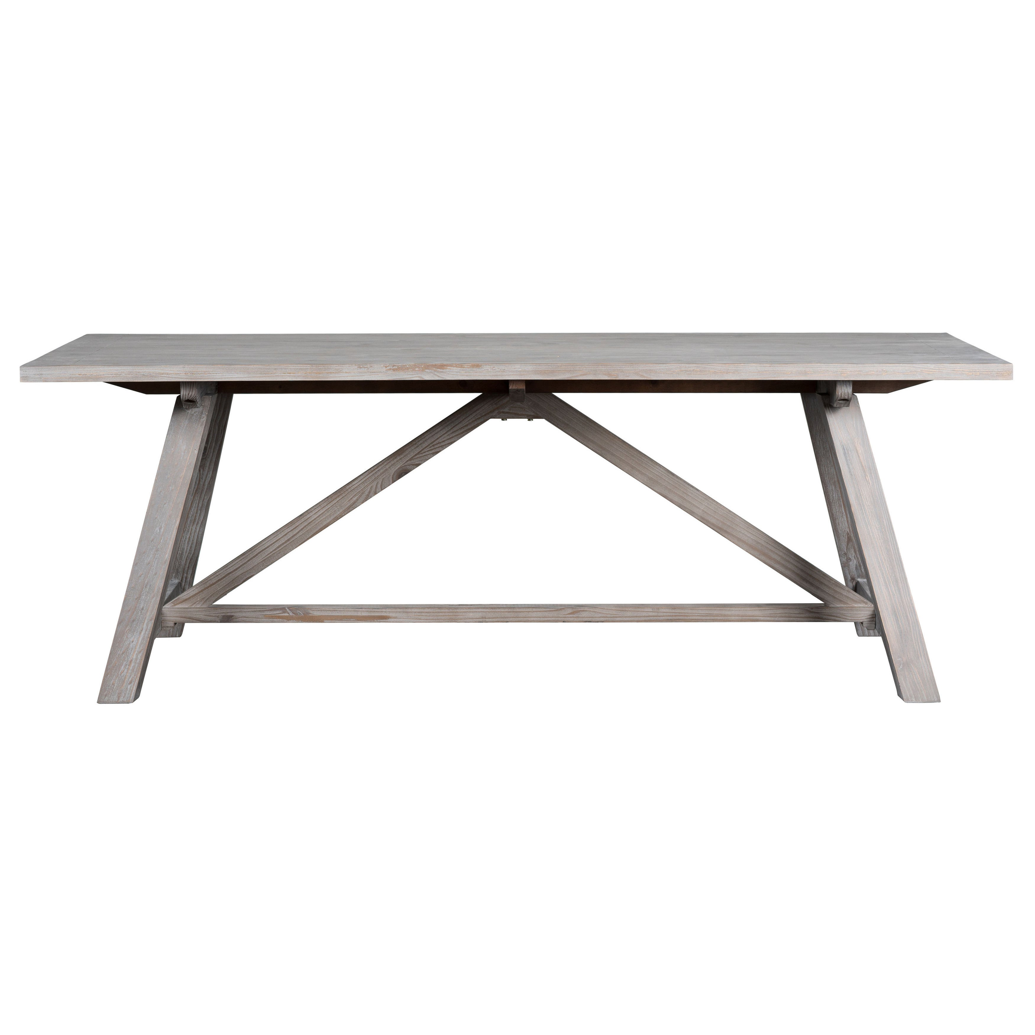 Aubrey Rustic Grey 86 inch Dining Table by Kosas Home Free