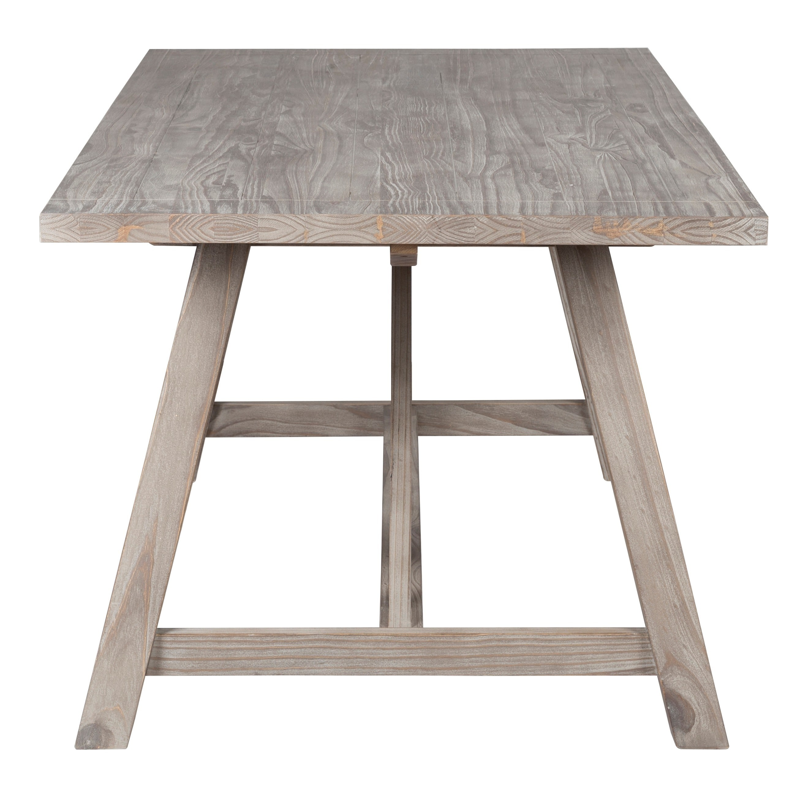 72 inch dining bench french country dining shop aubrey rustic grey 72inch dining table by kosas home distressed ash grey 30h 72w 36d on sale free shipping today overstockcom