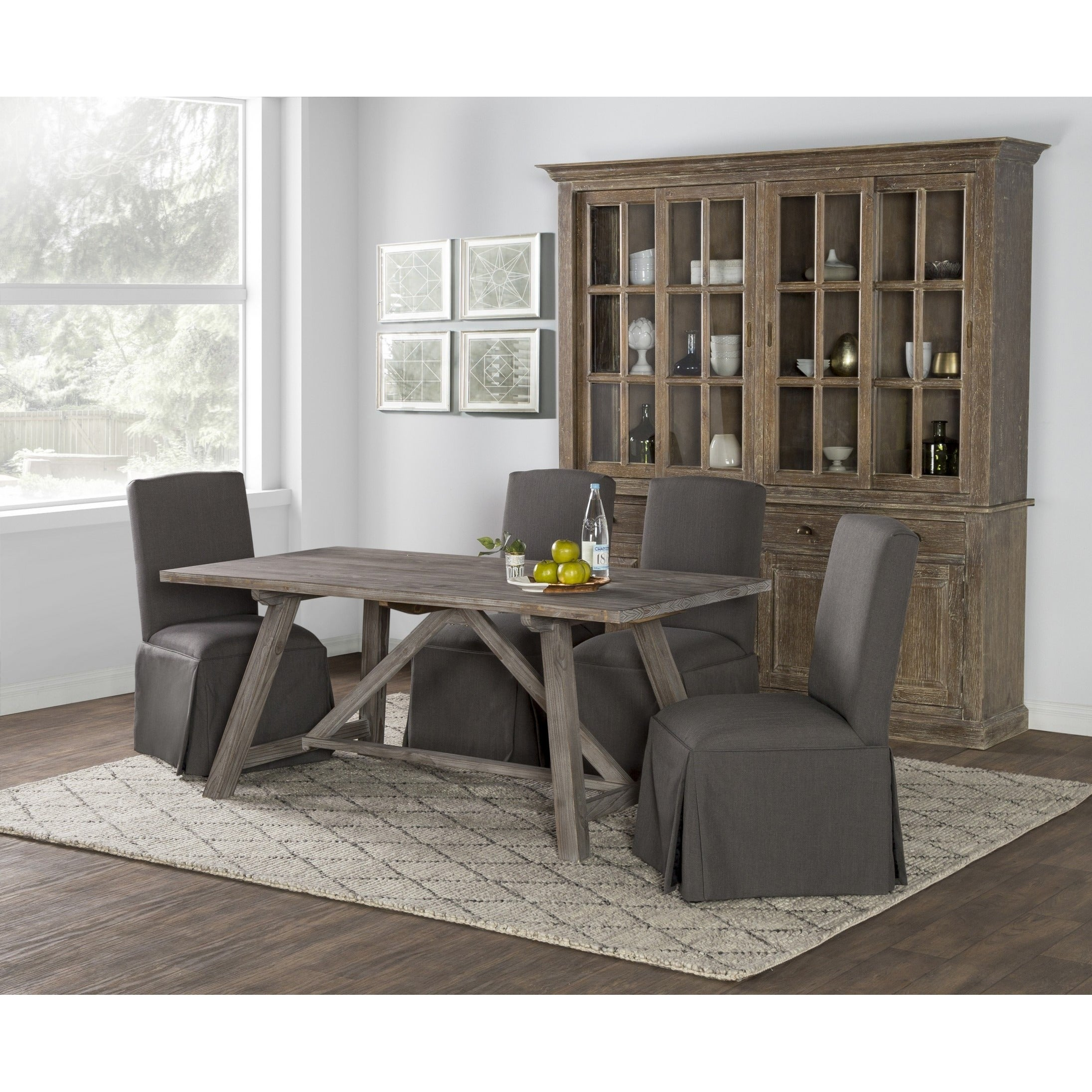Aubrey Rustic Grey 72 inch Dining Table by Kosas Home Free