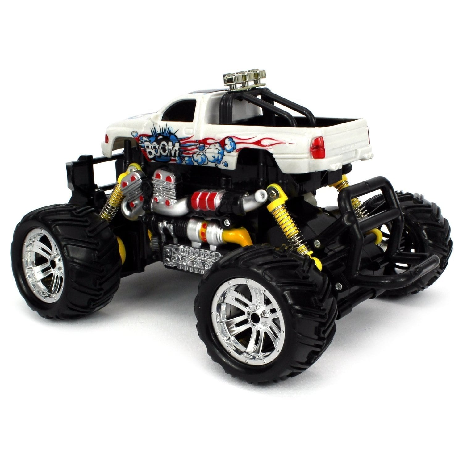 Graffiti V 2 Dodge Ram Pickup Battery Operated Rc Off Road Monster Truck 1 18 Scale 4 Wheel Drive Rtr Colors May Vary Free Shipping Today