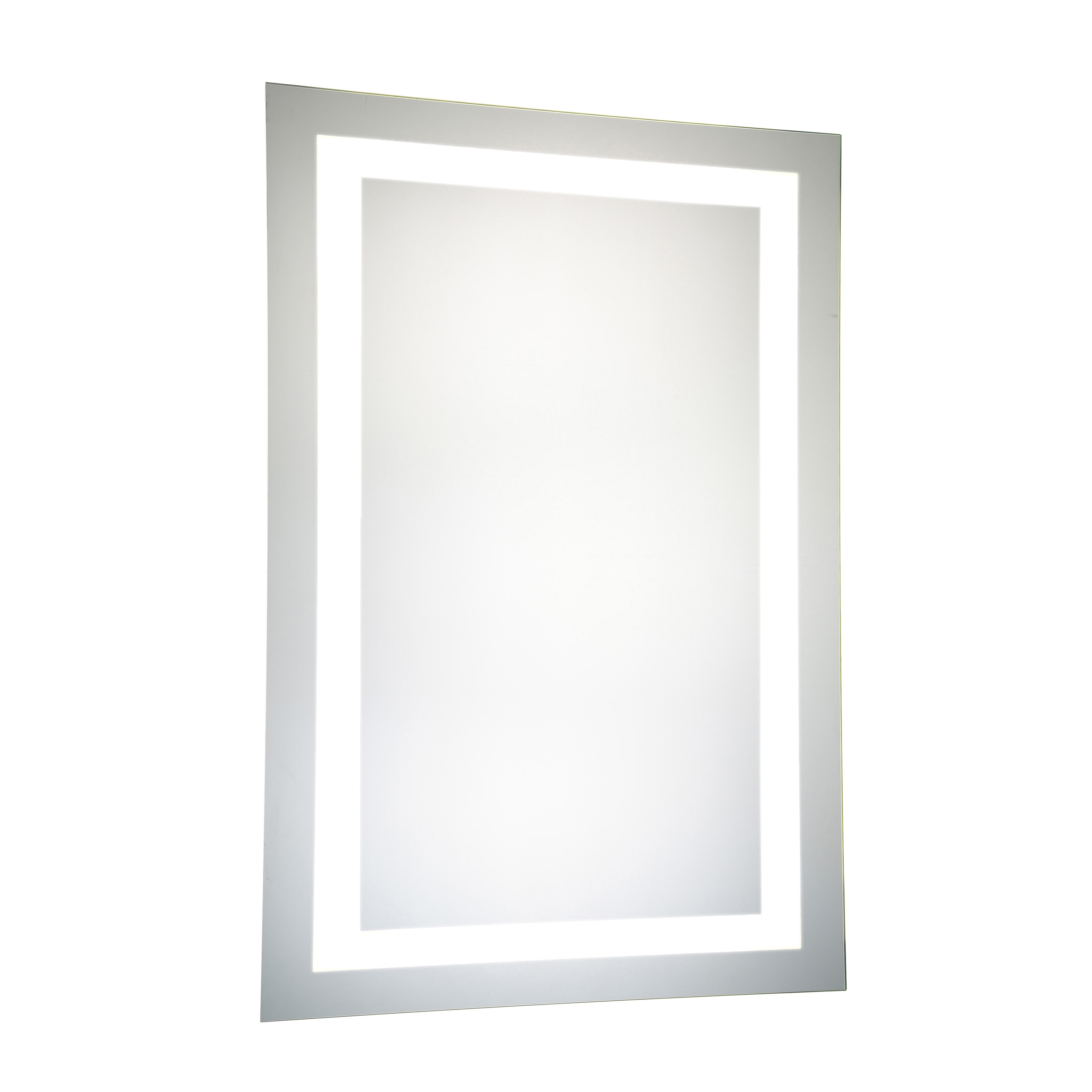 Shop LED Hardwired Mirror Rectangle Dimmable 5000K - Silver - Free ...