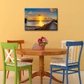 Bruce Bain 'Keys Sunrise' ArtPlexi by Ready2HangArt - Blue/Orange