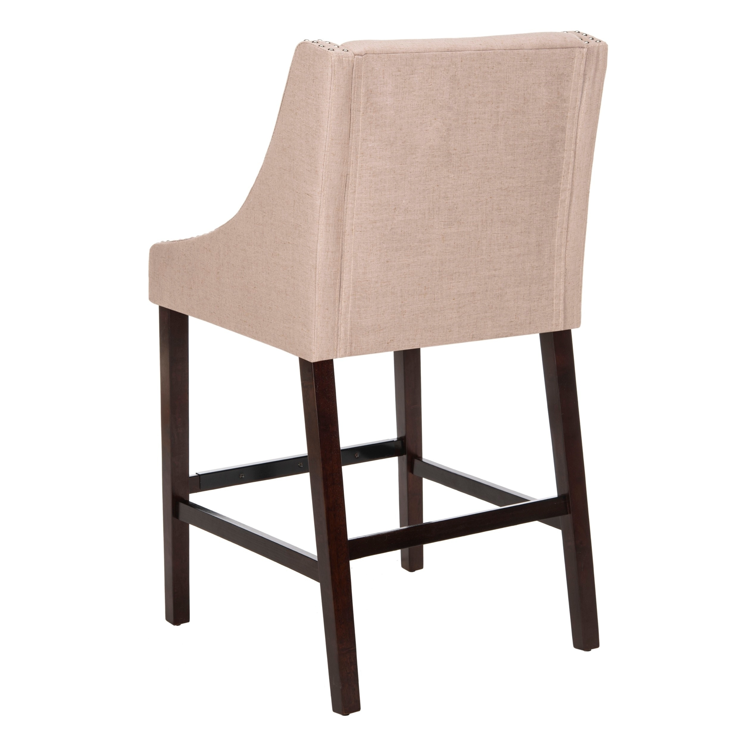 Safavieh Dylan Taupe Barstool  Free Shipping Today  Overstock