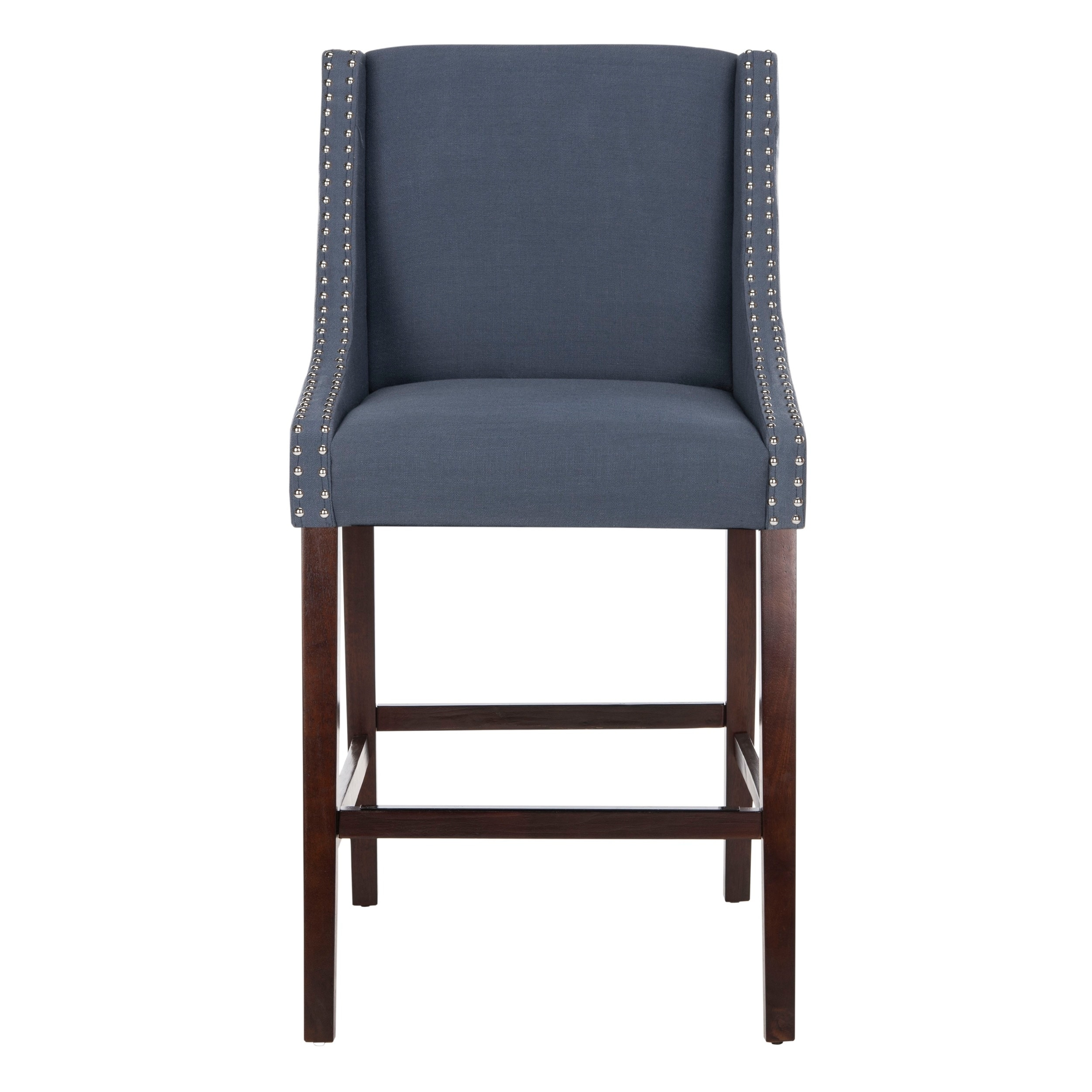 Safavieh Dylan Navy Barstool  Free Shipping Today  Overstock