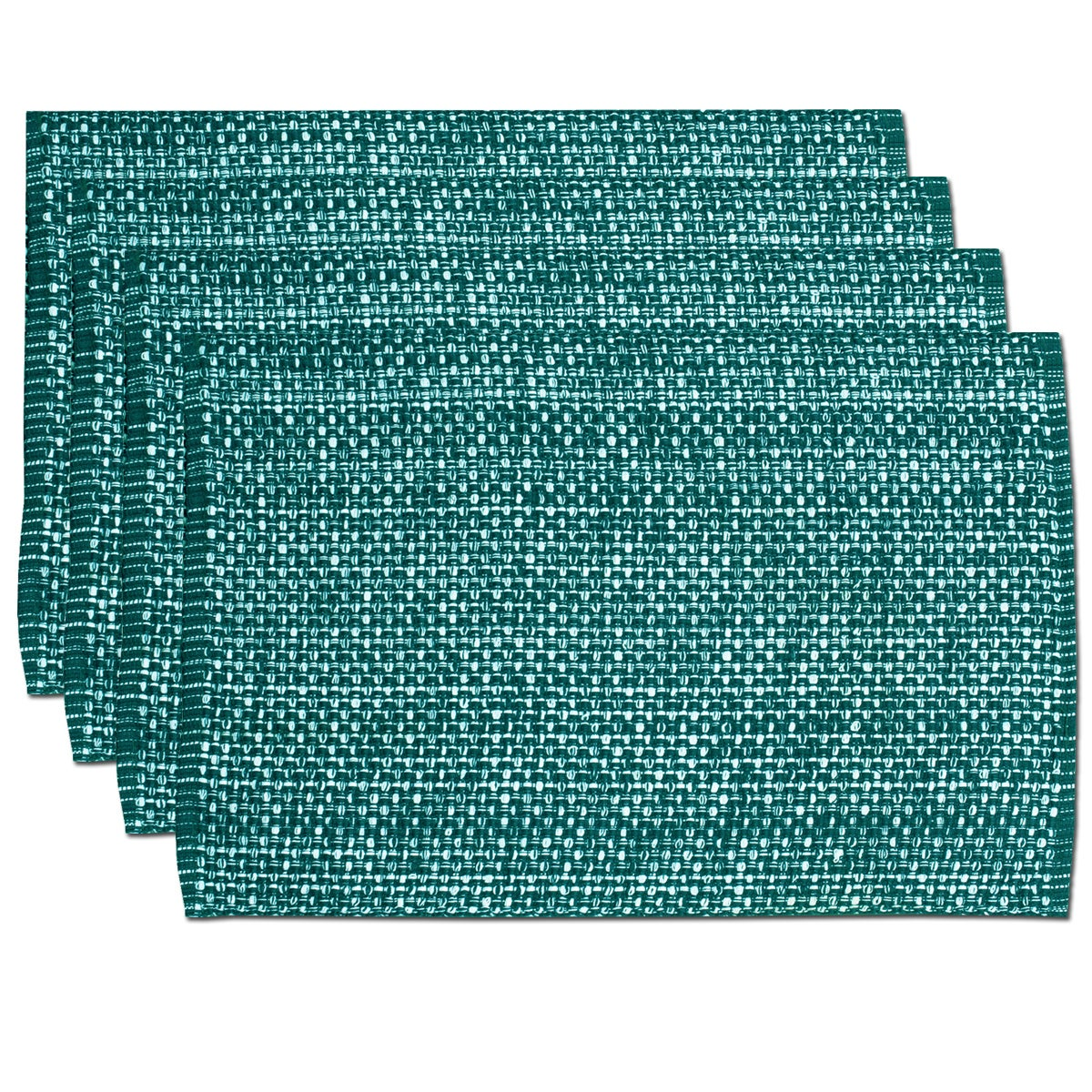 Shop Turquoise Cotton Two-tone Placemats (Set of 2, 4 or 6) - On ...