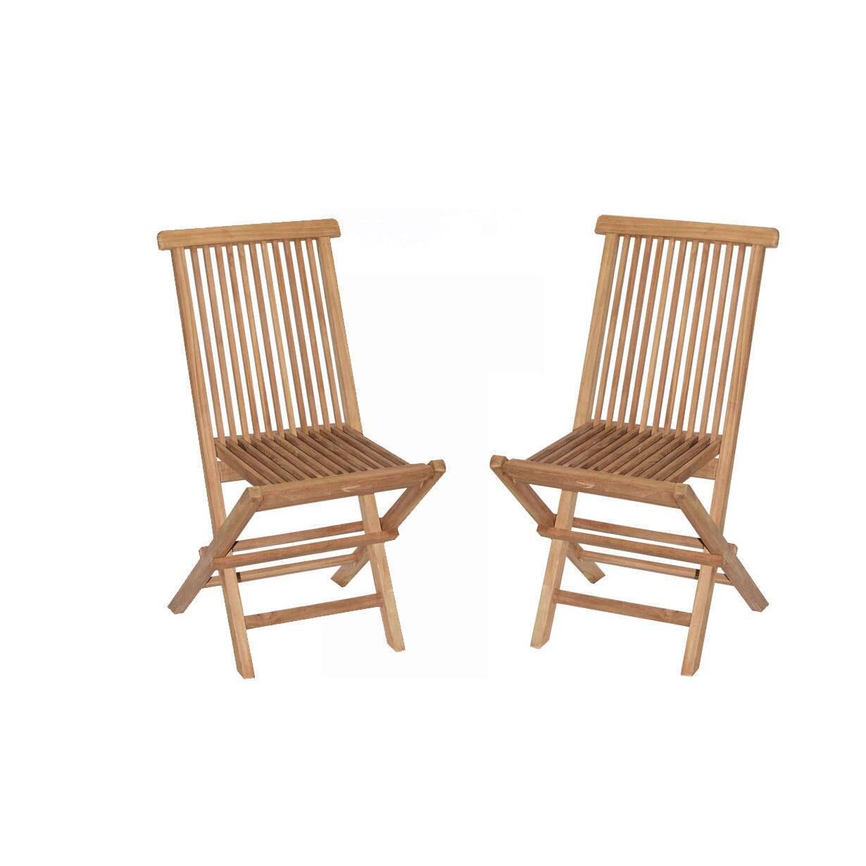 Handmade Vineyard Teak Folding Chairs (Set Of 2) (Indonesia)