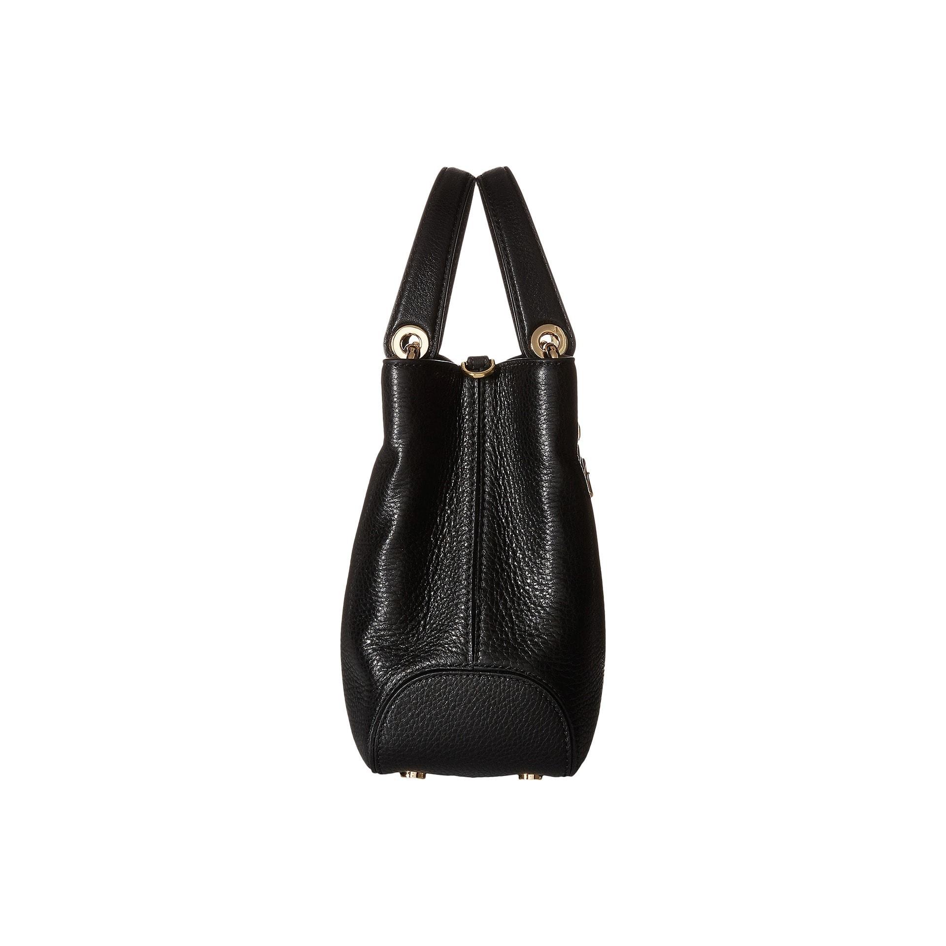 efa3e7238c55 Shop Michael Kors Annabelle Black Medium Top Zip Tote Handbag - Free  Shipping Today - Overstock - 11403779