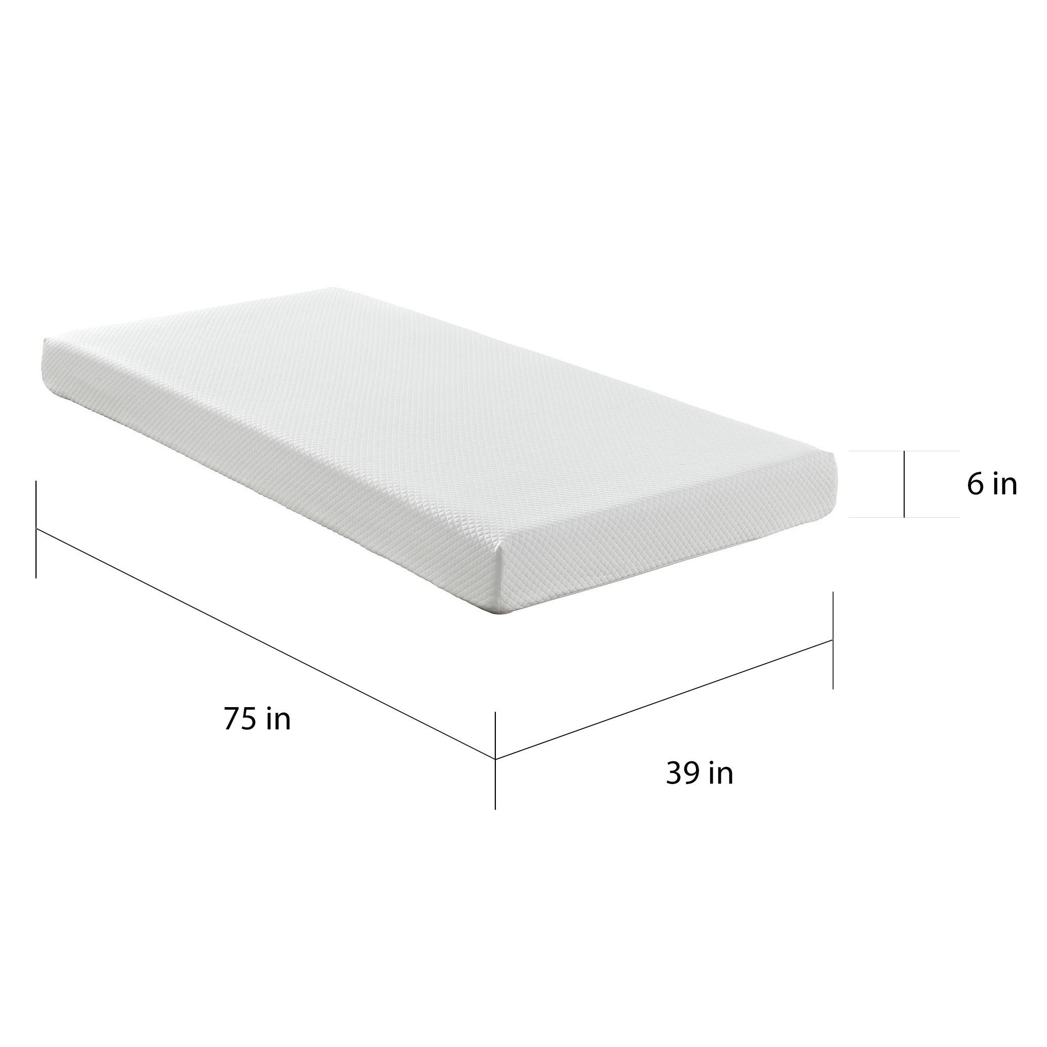 Aveline 6 inch Gel Infused Memory Foam Twin size Mattress Free