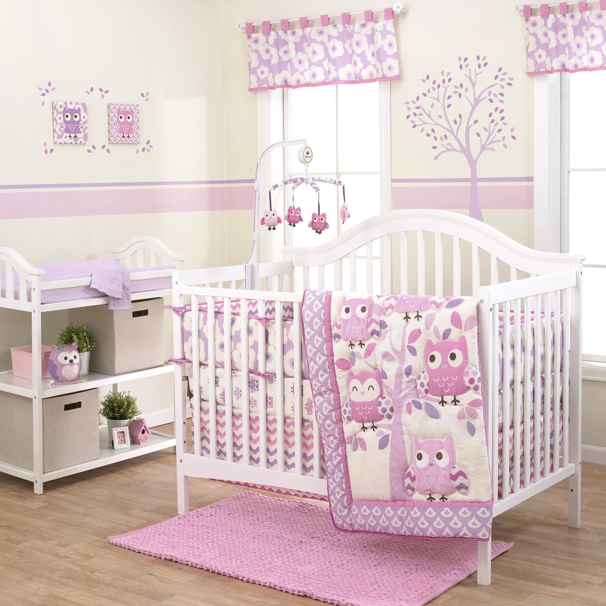 Belle Dancing Owl 3 Piece Crib Bedding Set Free Shipping Today 11407379