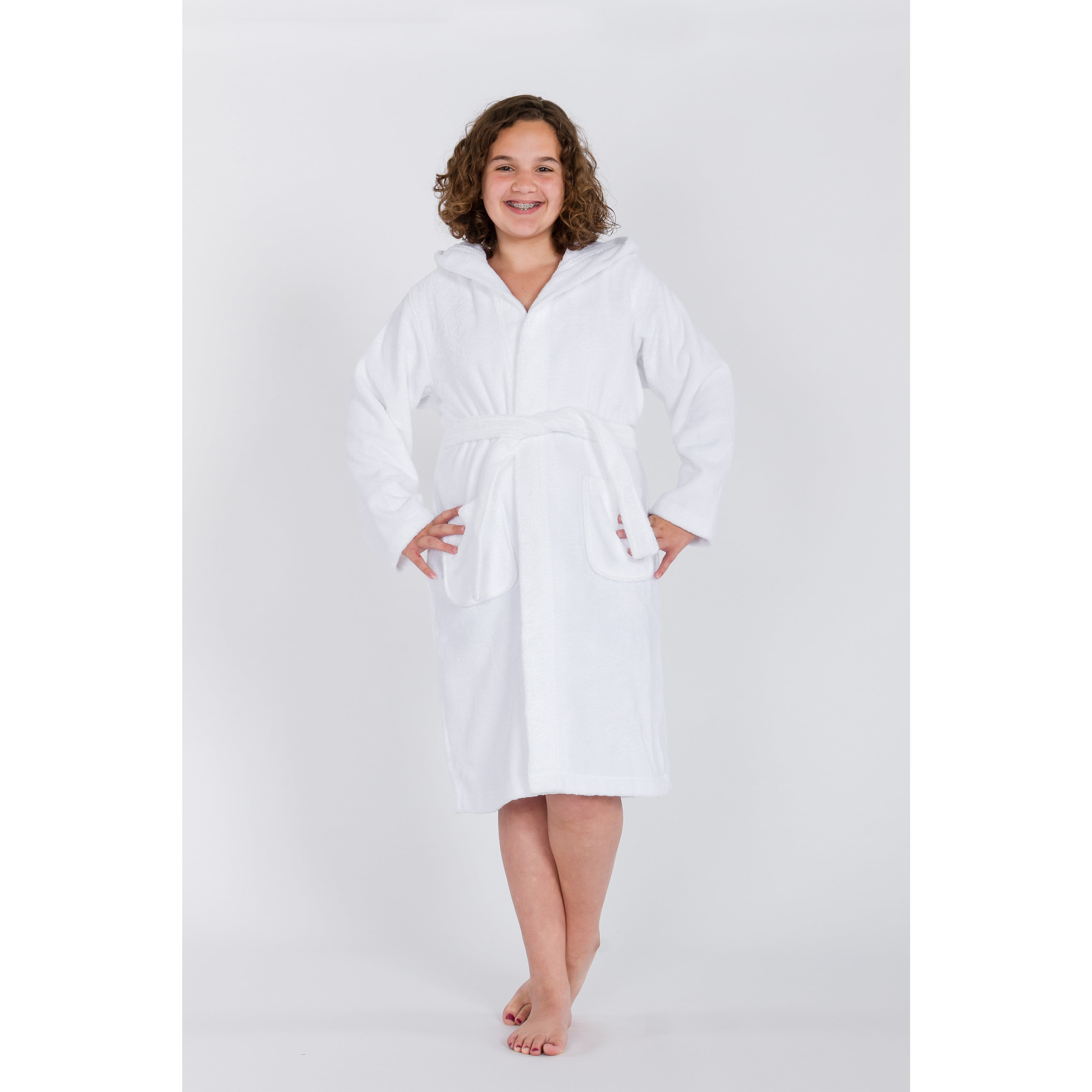 58a26199a09df Shop Sweet Kids White Turkish Cotton Hooded Unisex Terry Bathrobe - On Sale  - Free Shipping On Orders Over $45 - Overstock - 11408261