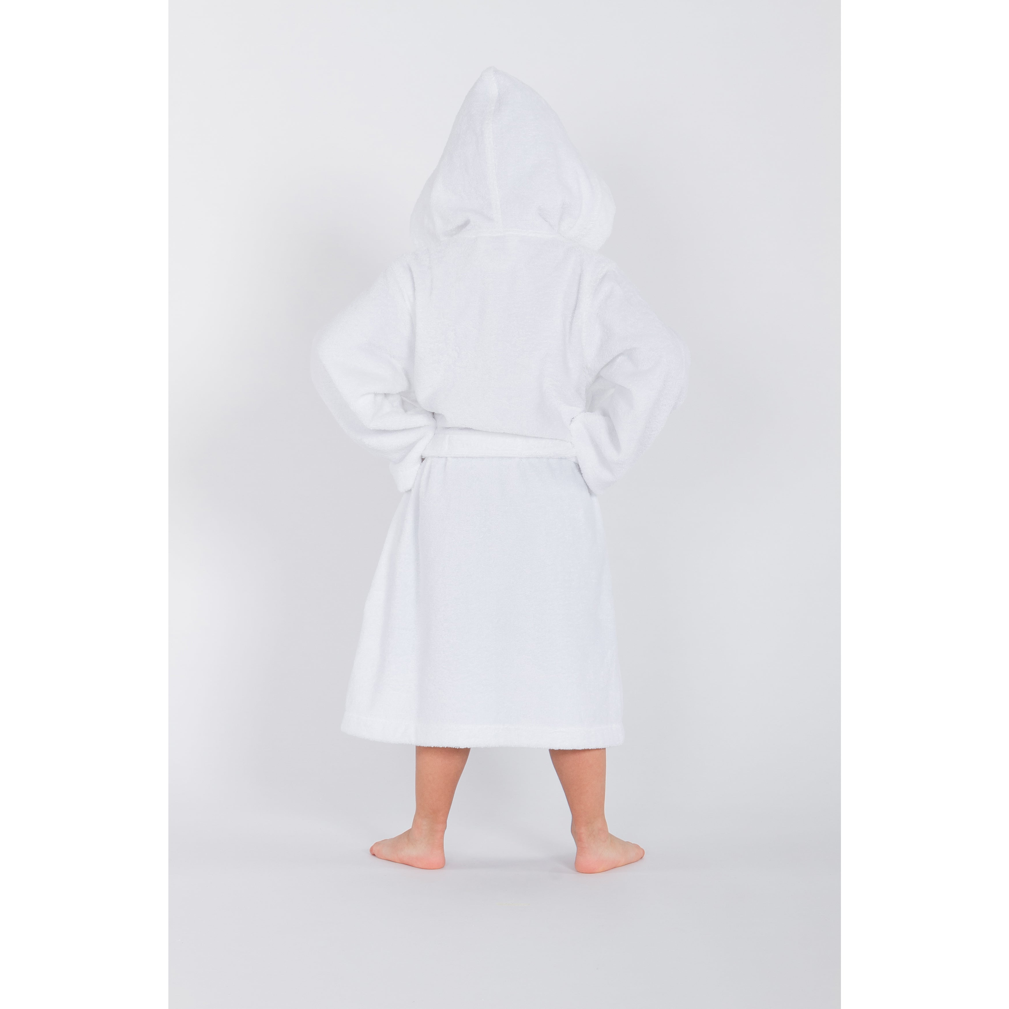 2eb80bc43e Shop Sweet Kids White Turkish Cotton Hooded Unisex Terry Bathrobe - Free  Shipping On Orders Over  45 - Overstock - 11408261