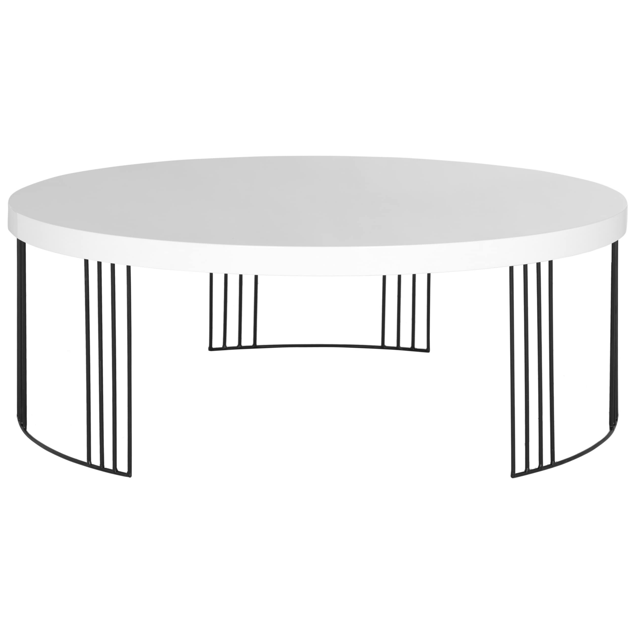 Safavieh Mid Century Modern Keelin White Lacquer Coffee Table