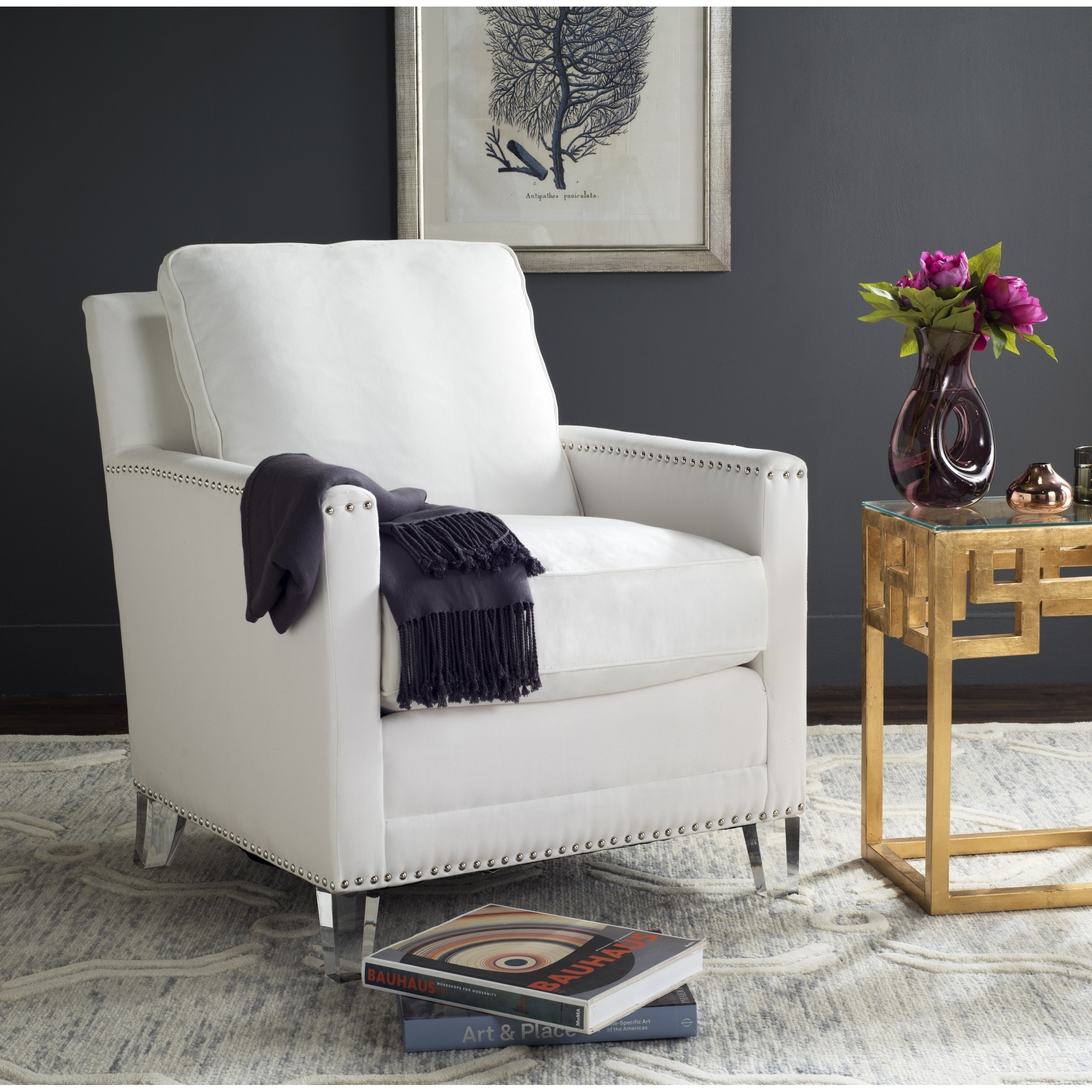 Shop Safavieh Jensen White/ Clear Club Chair - Free Shipping Today ...