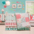 The Peanut Shell Mila 4-piece Girl Crib Bedding Set