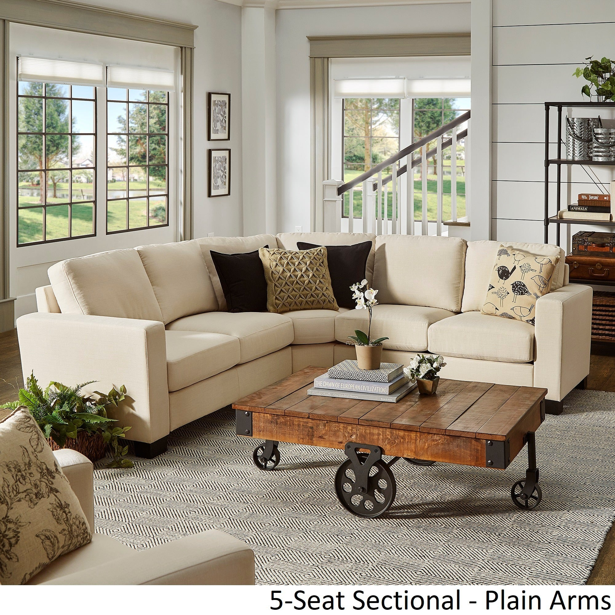 piece specialties at lowes pd monarch ivory shop sofa sectional com