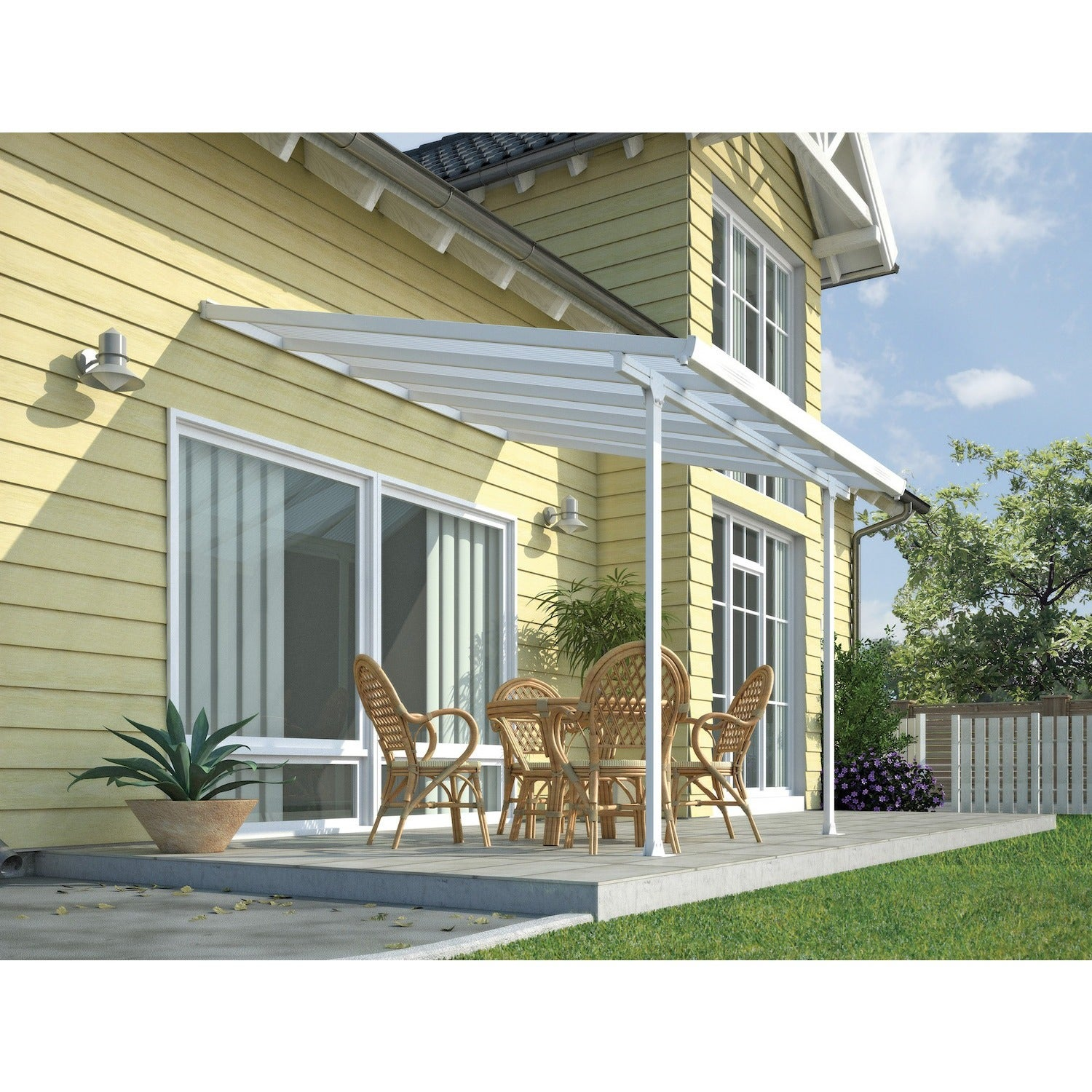 Amazing Palram Feria White 10ft. X 10ft. Patio Cover   Free Shipping Today    Overstock   18376934