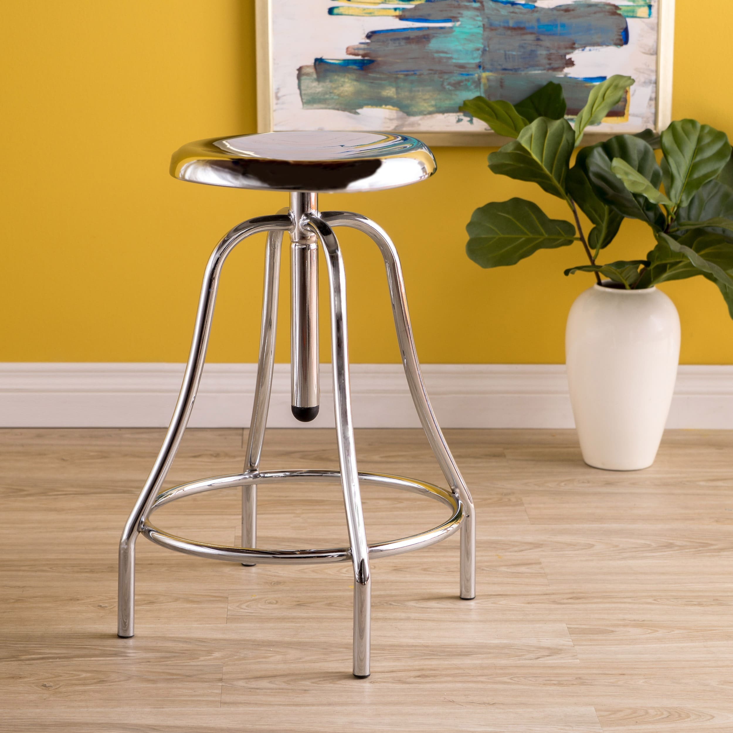Vincent 33 Inch Iron Swivel Barstool By Christopher Knight Home Free Shipping Today 11413764