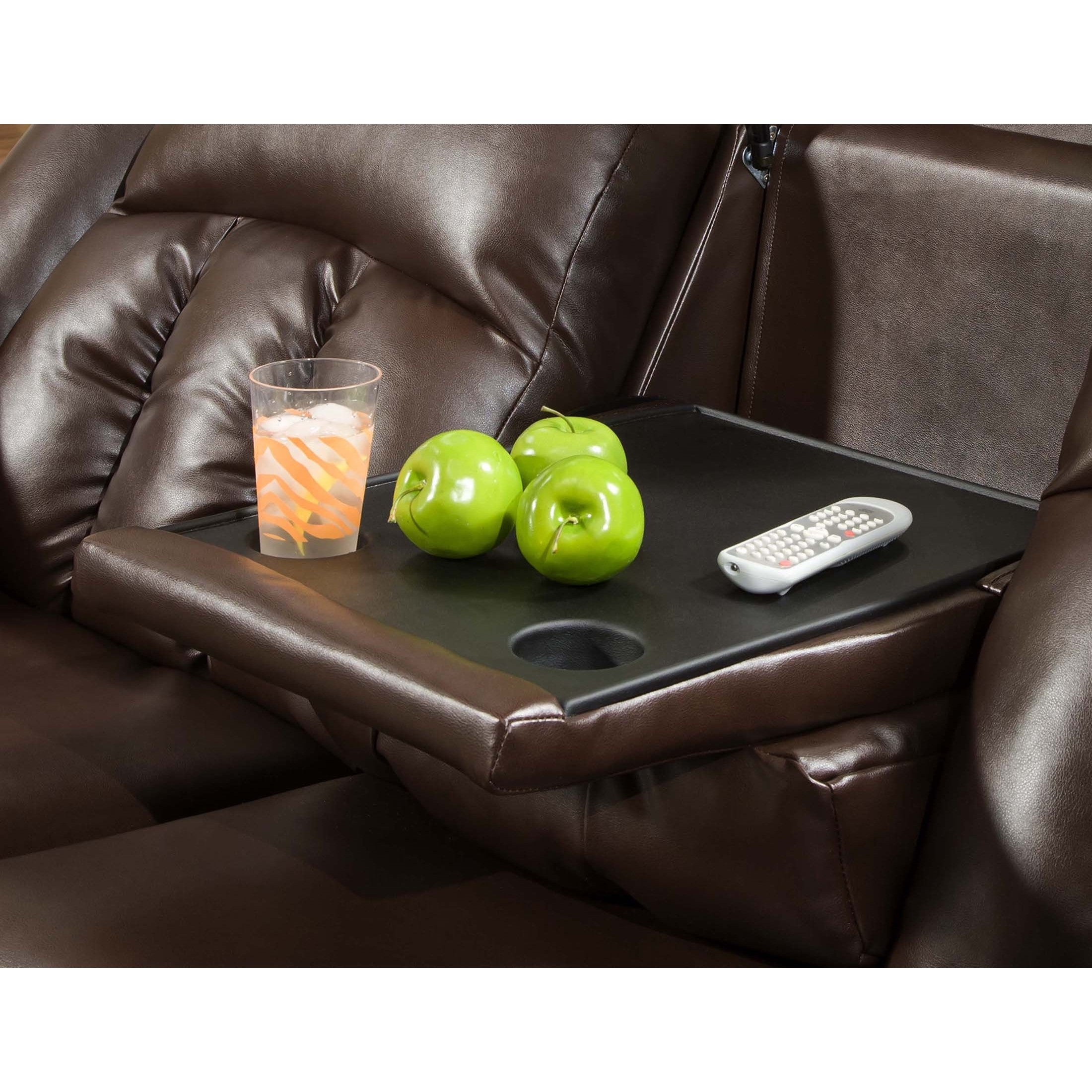 Shop Simmons Upholstery Sebring Bonded Leather Double Motion Sofa   Free  Shipping Today   Overstock.com   11414113