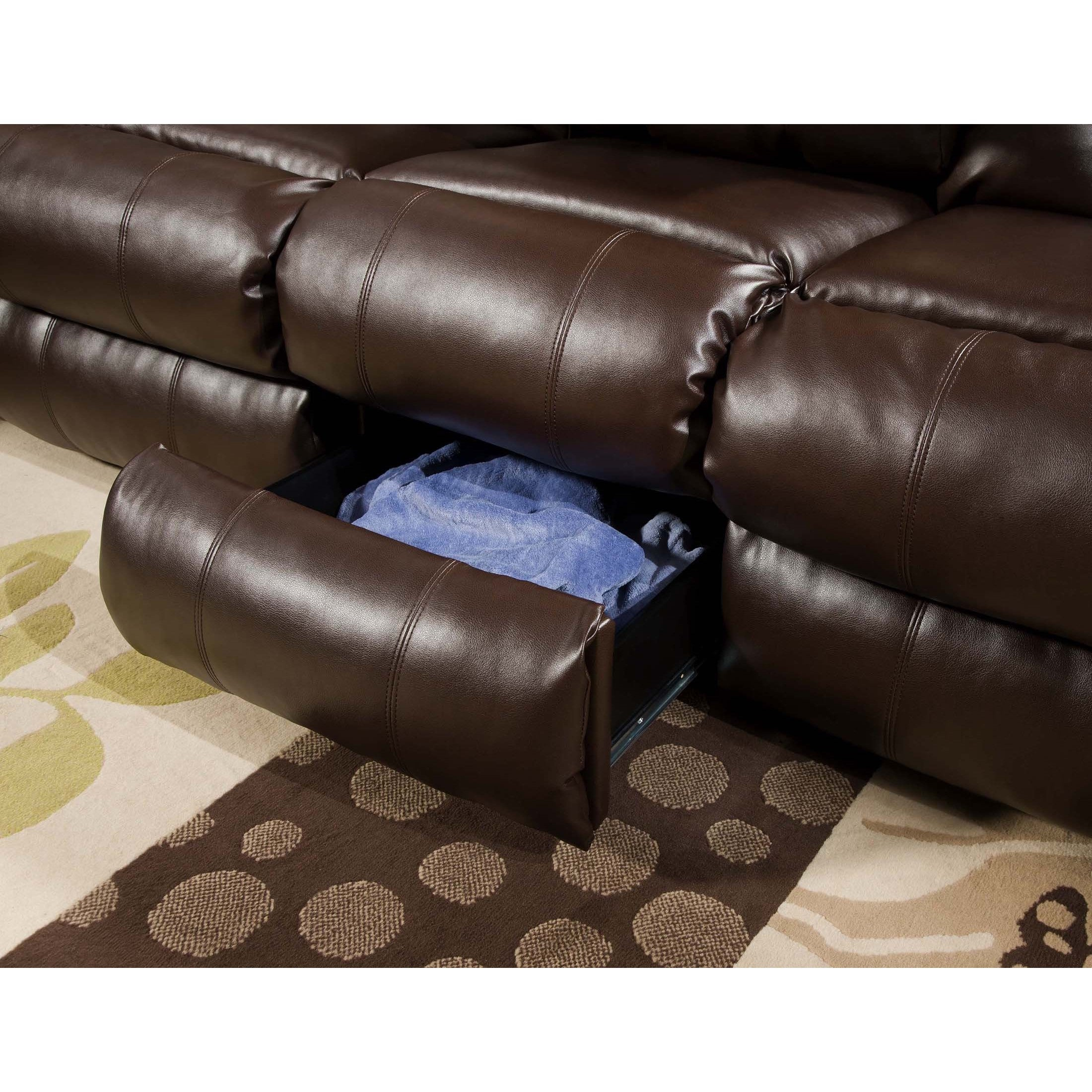 Simmons Upholstery Sebring Bonded Leather Double Motion Sofa Free Shipping Today 18377909