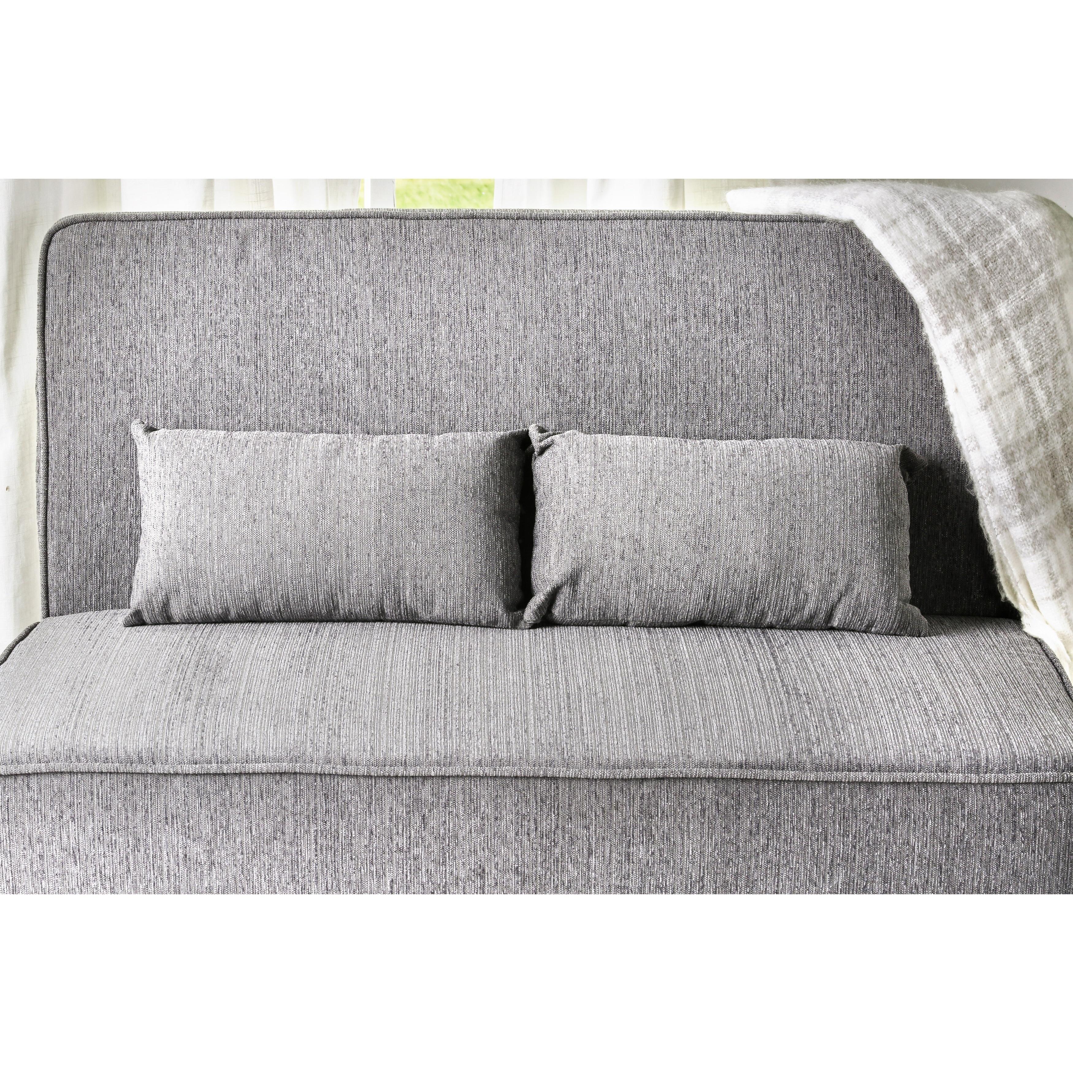 Shop Furniture of America Amirsa Modern Upholstered Armless Loveseat ...