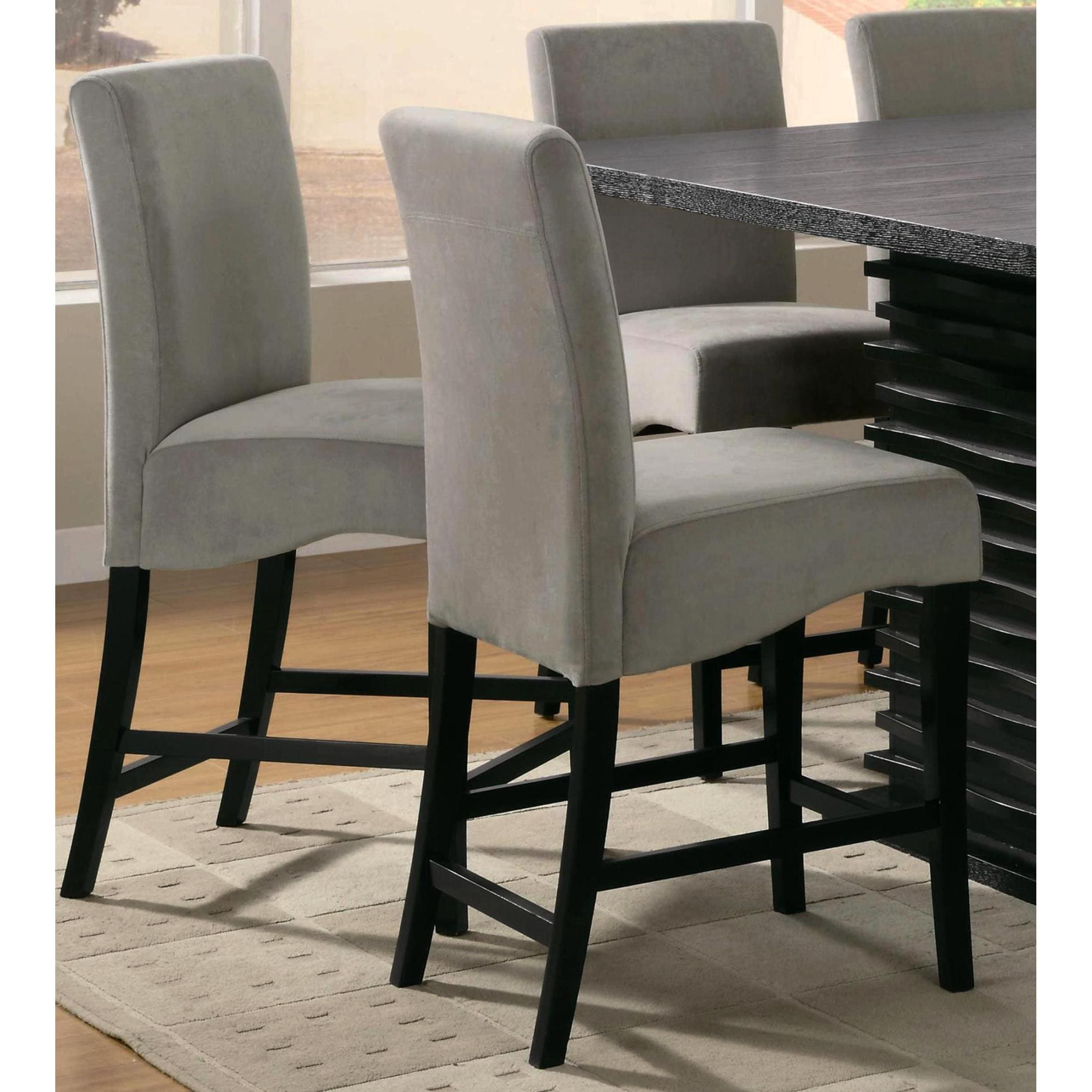 Amazing Bass Modern Black Dazzling Wave Design Grey Upholstered Counter Height Dining  Set   Free Shipping Today   Overstock.com   18378046